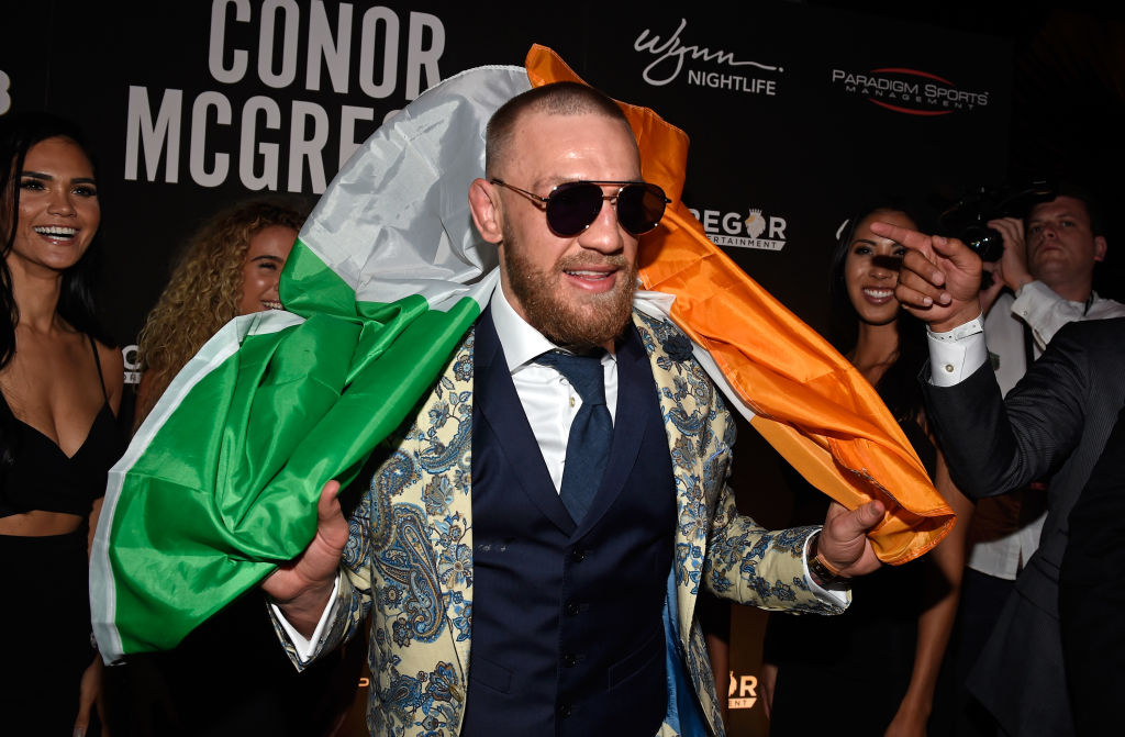 Conor McGregor attends his after fight party and his Wynn Nightlife residency debut at the Encore Beach Club at Night at Wynn Las Vegas on August 27, 2017 in Las Vegas, Nevada. (Photo by David Becker/Getty Images for Wynn Nightlife)