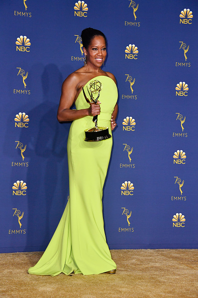 Outstanding Lead Actress in a Limited Series or Movie Regina King poses in the press room during the 70th Emmy Awards at Microsoft Theater on September 17, 2018 in Los Angeles, California. (Photo by Frazer Harrison/Getty Images)