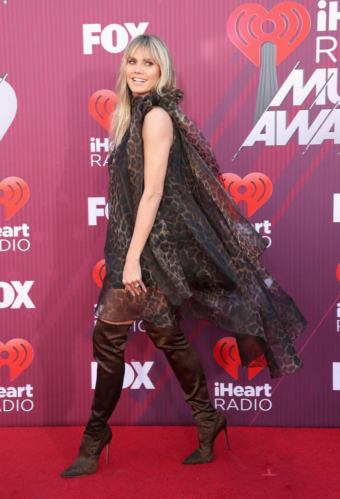 Heidi Klum attends the 2019 iHeartRadio Music Awards which broadcasted live on FOX at Microsoft Theater on March 14, 2019 in Los Angeles, California. (Photo by Rich Polk/Getty Images for iHeartMedia)