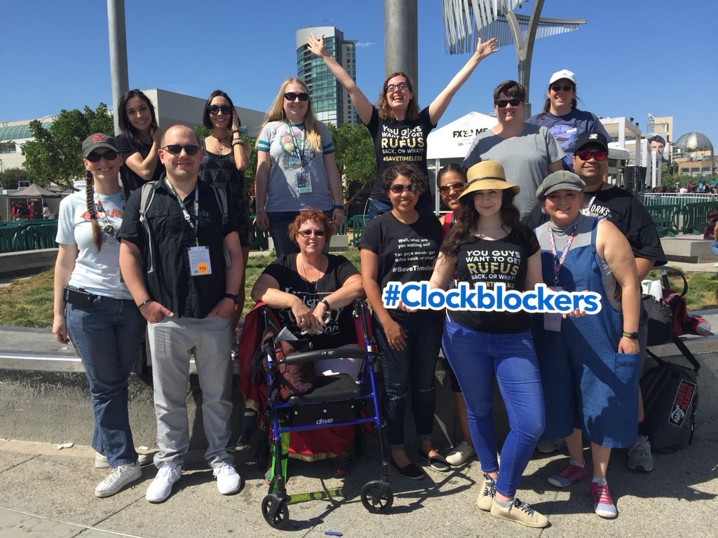 Fans at the SDCC Fan Meetup to save Timeless