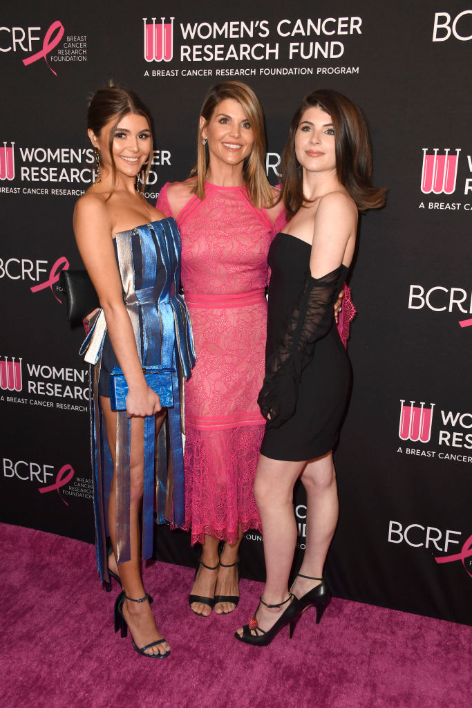 (L-R) Olivia Jade Giannulli, Lori Loughlin and Isabella Rose Giannulli attend The Women's Cancer Research Fund's An Unforgettable Evening Benefit Gala at the Beverly Wilshire Four Seasons Hotel on February 28, 2019, in Beverly Hills, California. (Source: Frazer Harrison/Getty Images)