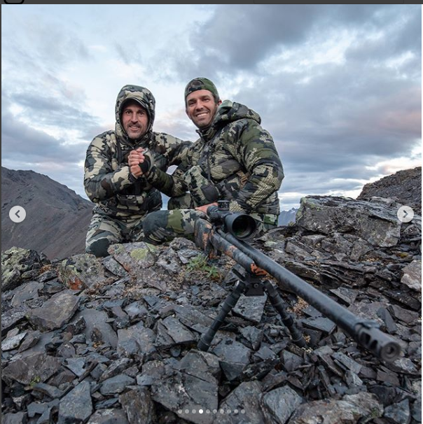 Hairston can be seen pictured with Trump Jr. during their Canada hunting trip (Instagram/ Donald Trump Jr.)
