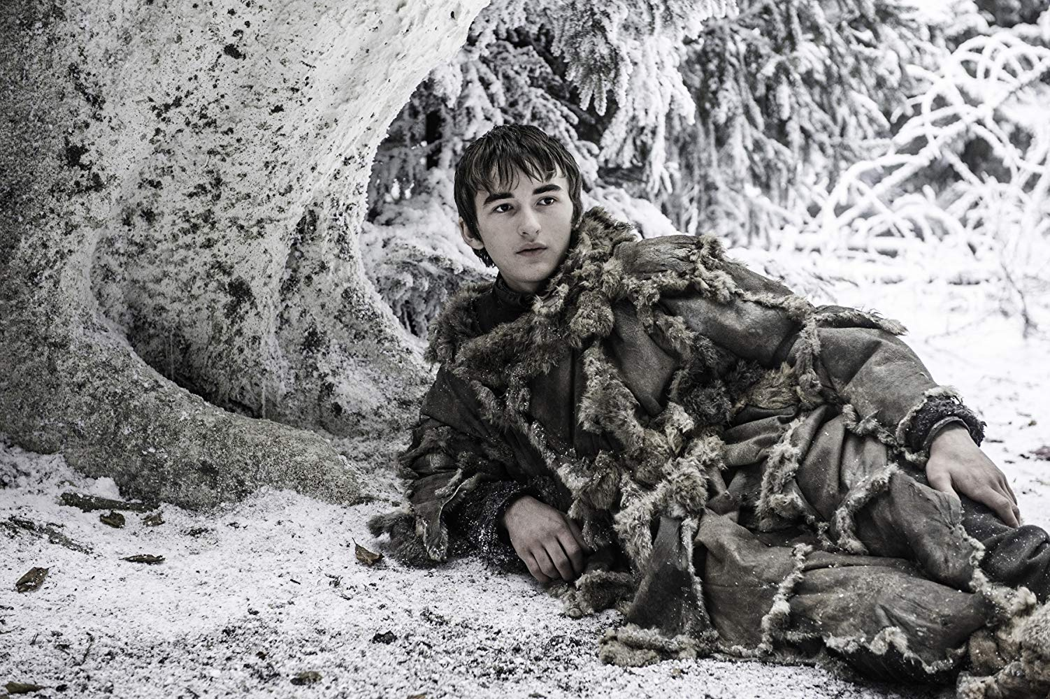 Isaac Hempstead Wright as Bran Stark in Game of Thrones (2011). (Source: IMDB)