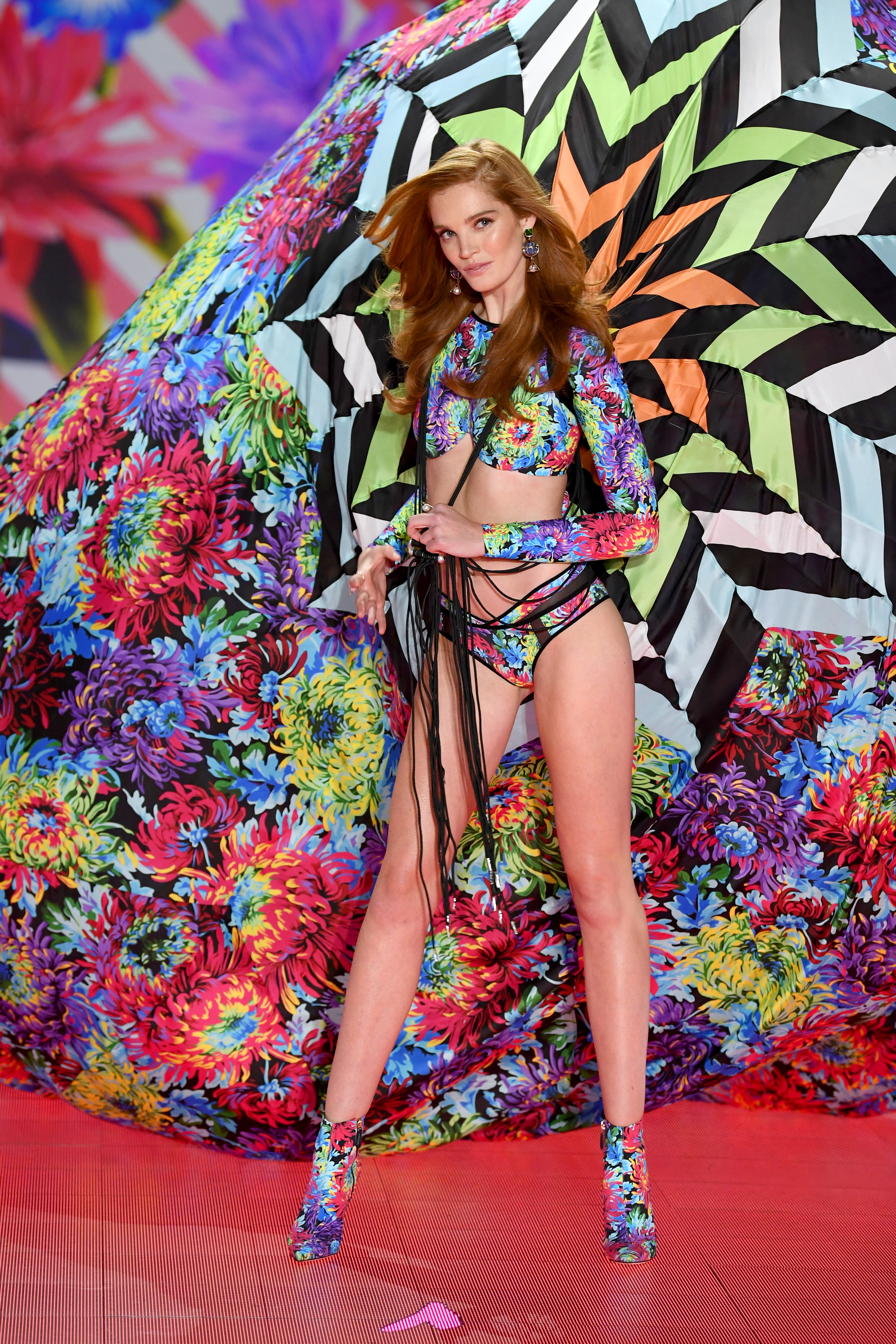 Alexina Graham walks the runway during the 2018 Victoria's Secret Fashion Show at Pier 94 on November 8, 2018, in New York City. (Getty Images)