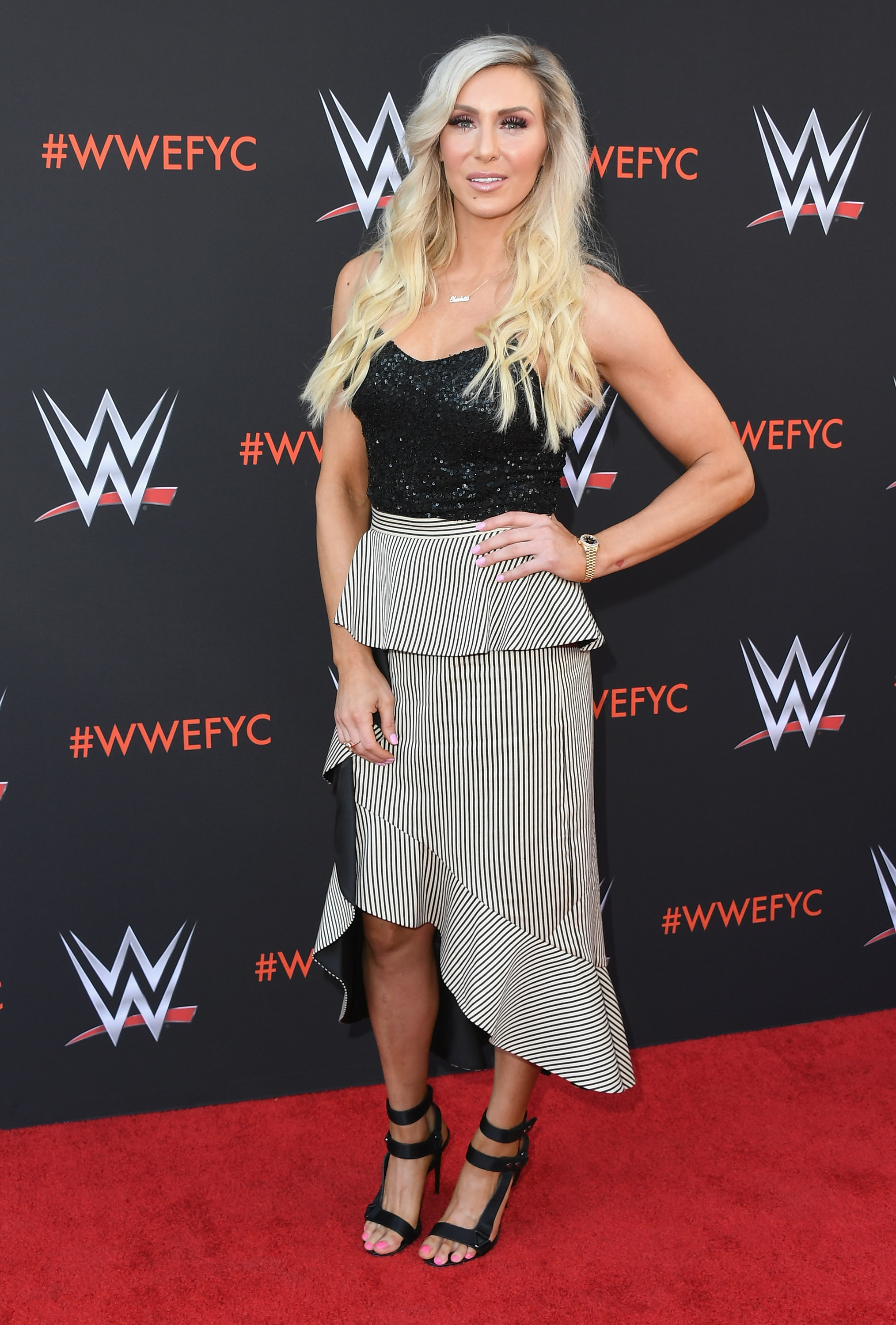 Charlotte Flair attends WWE's First-Ever Emmy 'For Your Consideration' Event at Saban Media Center on June 6, 2018 in North Hollywood, California. (Getty Images)
