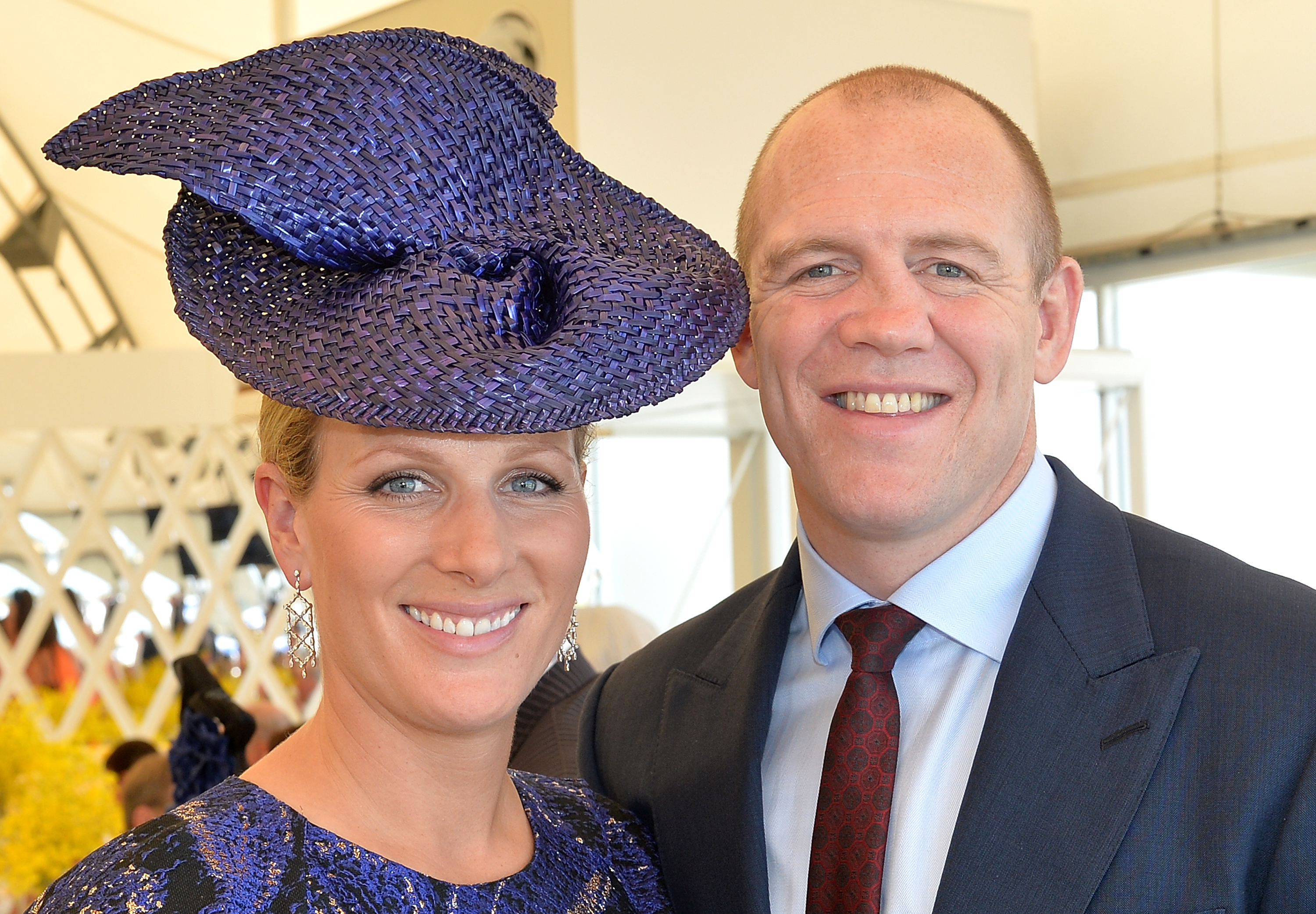 Zara Phillips and Mike Tindall attend the Magic Millions Raceday at Gold Coast Turf Club on January 9, 2016 in Gold Coast, Australia.
