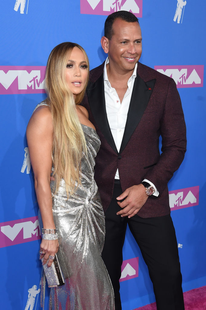 Alex Rodriguez and Jennifer Lopez attends the 2018 MTV Video Music Awards at Radio City Music Hall on August 20, 2018 in New York City. (Photo by Jamie McCarthy/Getty Images)