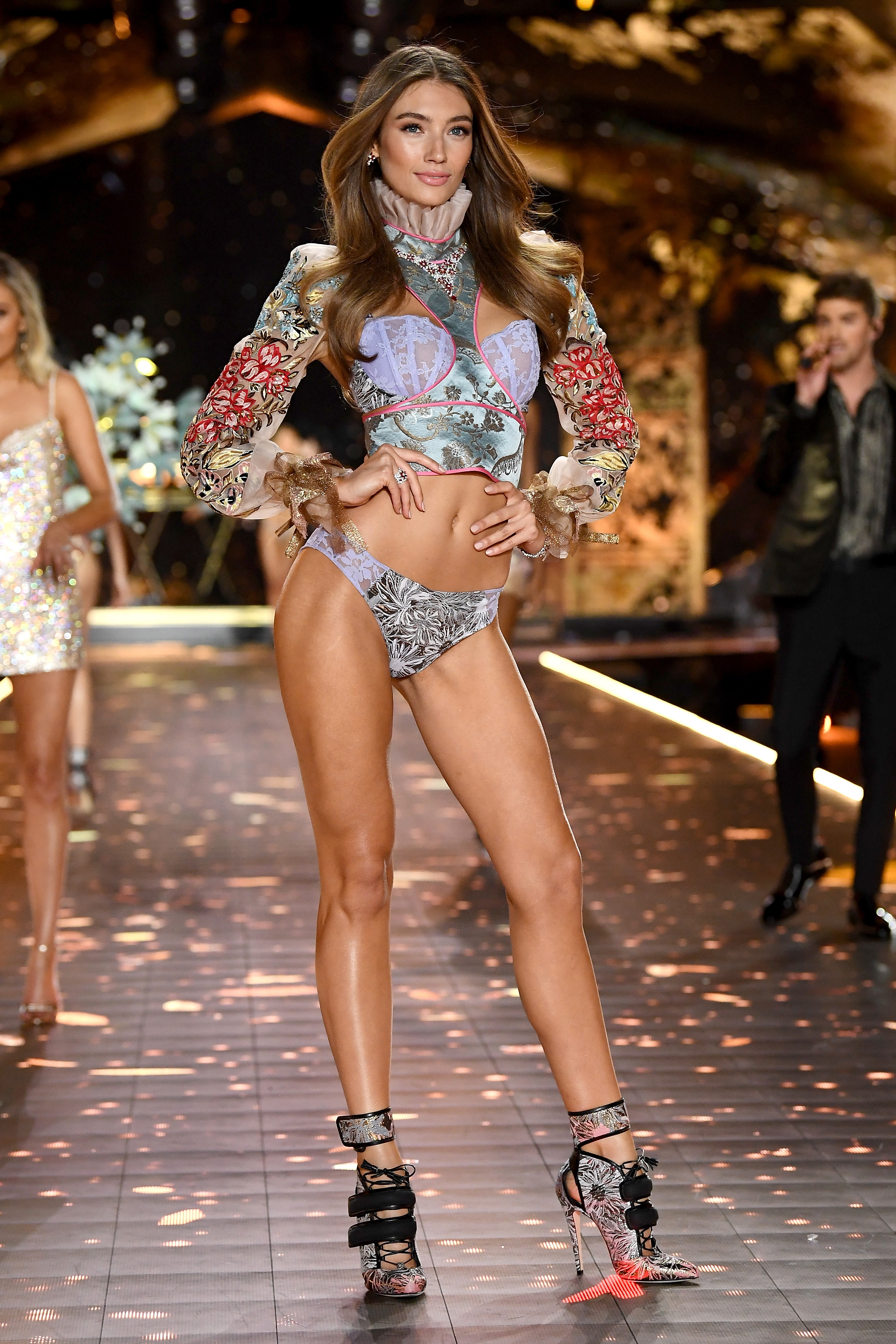 Lorena Rae walks the runway during the 2018 Victoria's Secret Fashion Show at Pier 94 on November 8, 2018, in New York City. (Getty Images)