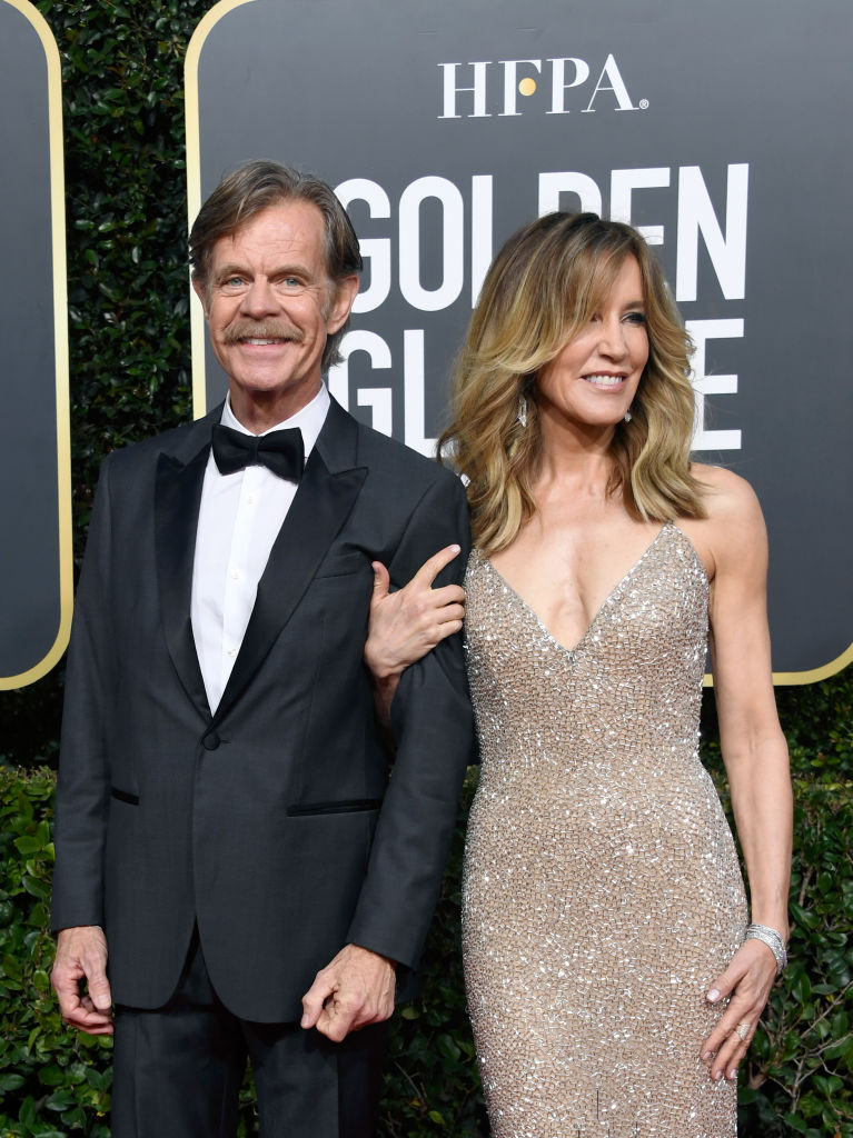 William H. Macy and Felicity Huffman attend the 76th Annual Golden Globe Awards at The Beverly Hilton Hotel on January 6, 2019, in Beverly Hills, California. (Source: Frazer Harrison/Getty Images)