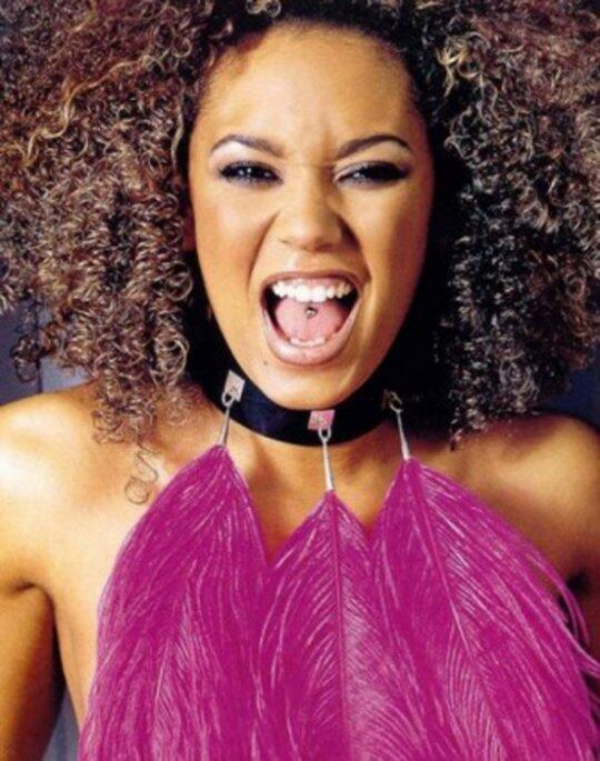 Mel B revealed that after she got her tongue pierced she kissed all her bandmates to see how it feels. (Twitter)