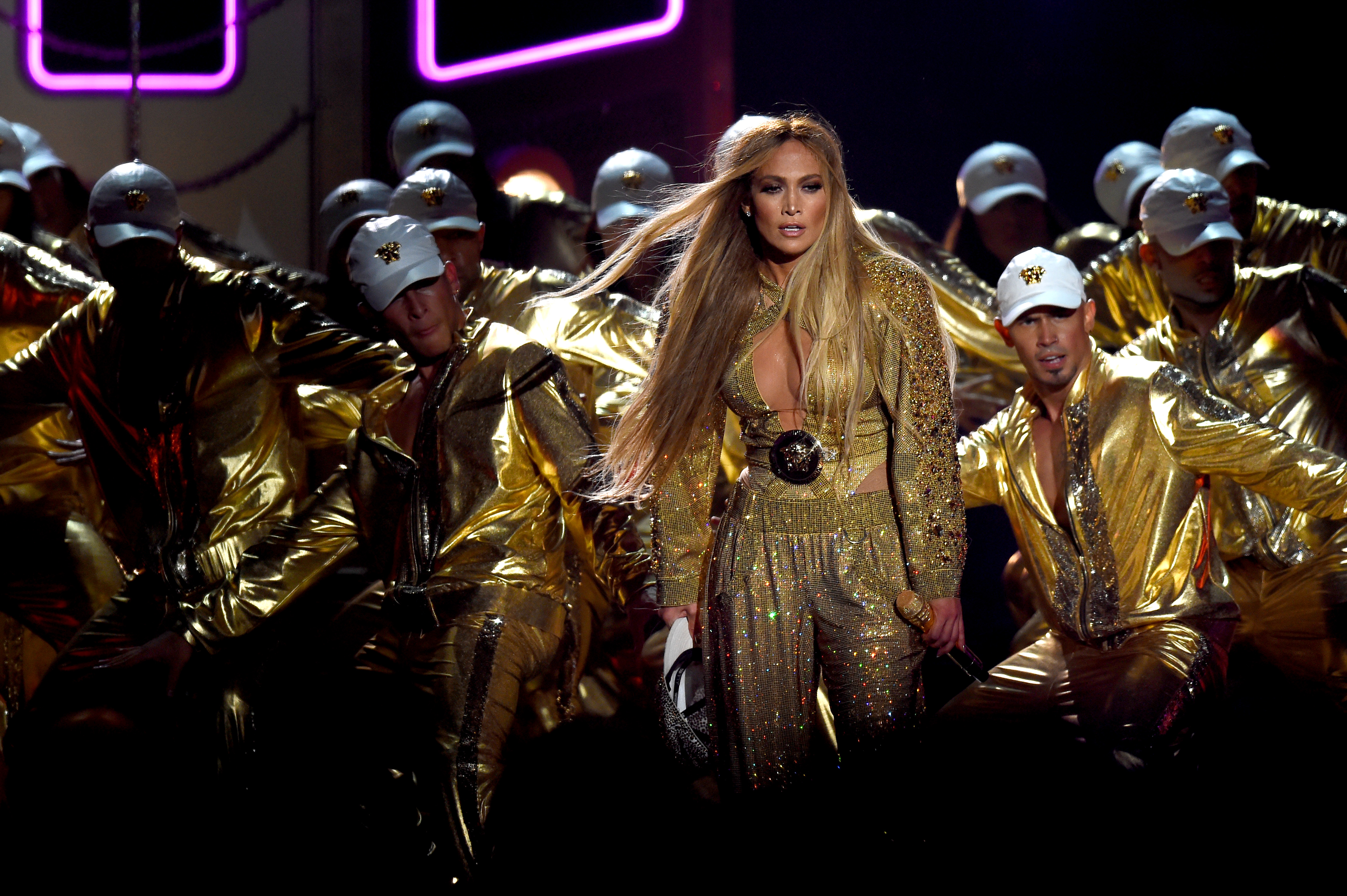 Jennifer Lopez performs at the VMAs