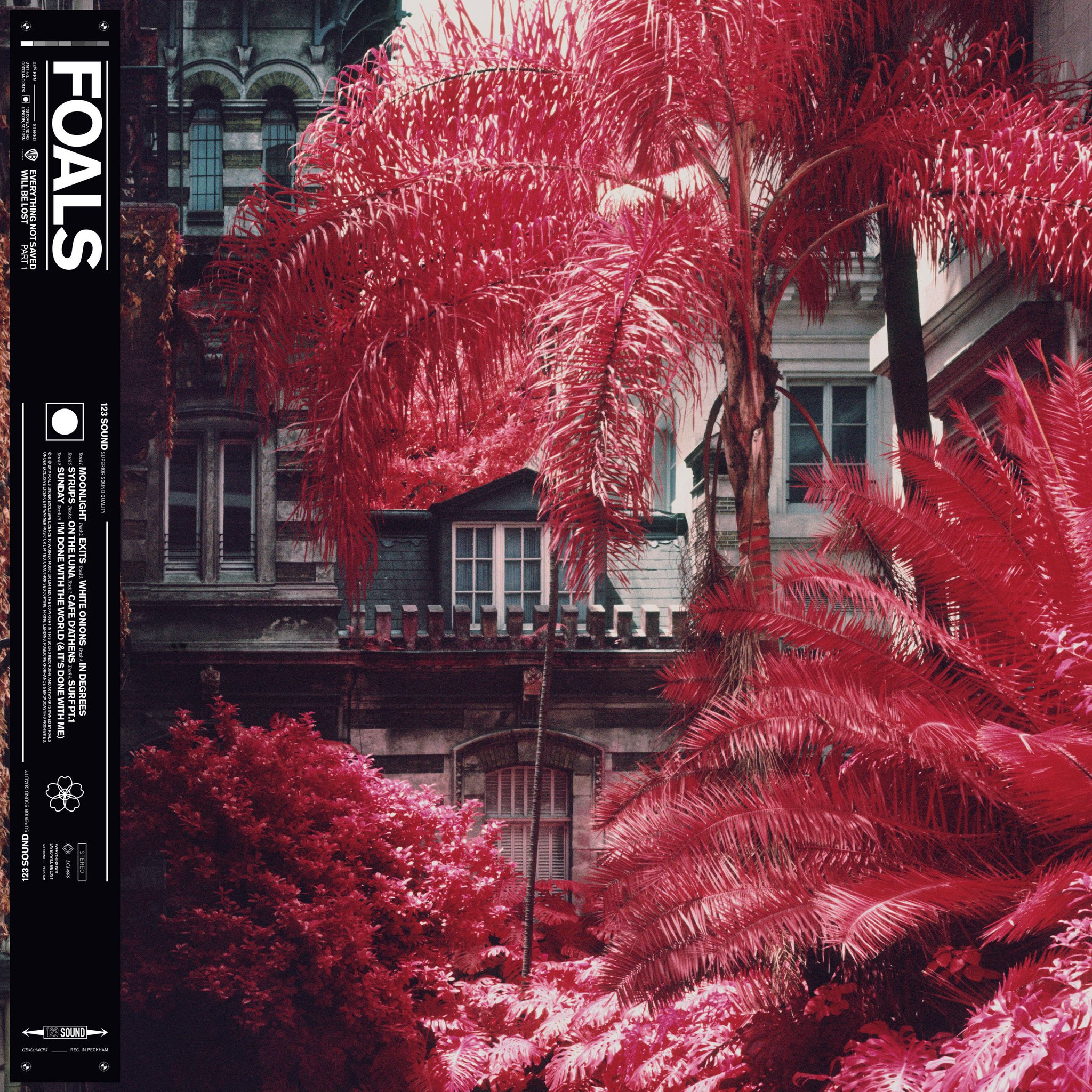 Album art for Foals' upcoming album 'Everything Not Saved Will Be Lost Part 1'.