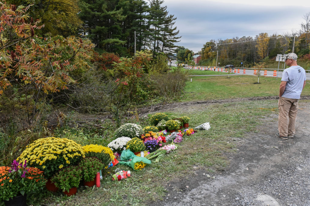 Local residents mourn the victims of the limousine crash (Getty Images)