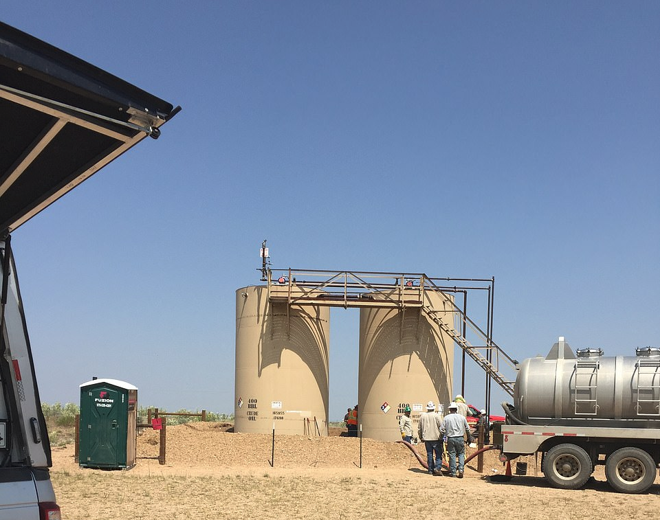 The tanks where Bella and Celeste's bodies were disposed of by their father Chris Watts (Source: Weld County DA)