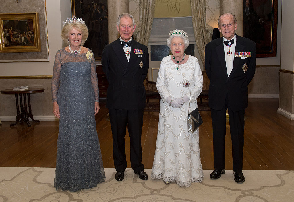 Camilla, Duchess of Cornwall, Prince Charles, Prince of Wales, Queen Elizabeth II and Prince Philip, Duke of Edinburgh pose as they attend a dinner at the Corinthia Palace Hotel in Attard during the Commonwealth Heads of Government Meeting (CHOGM) on November 27, 2015 near Valletta, Malta (Photo by Arthur Edwards -Pool/Getty Images)