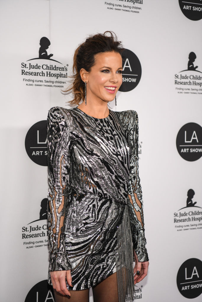 Kate Beckinsale arrives at the LA Art Show 2019 Opening Night Gala at the Los Angeles Convention Center on January 23, 2019 in Los Angeles, California. (Photo by Morgan Lieberman/Getty Images)