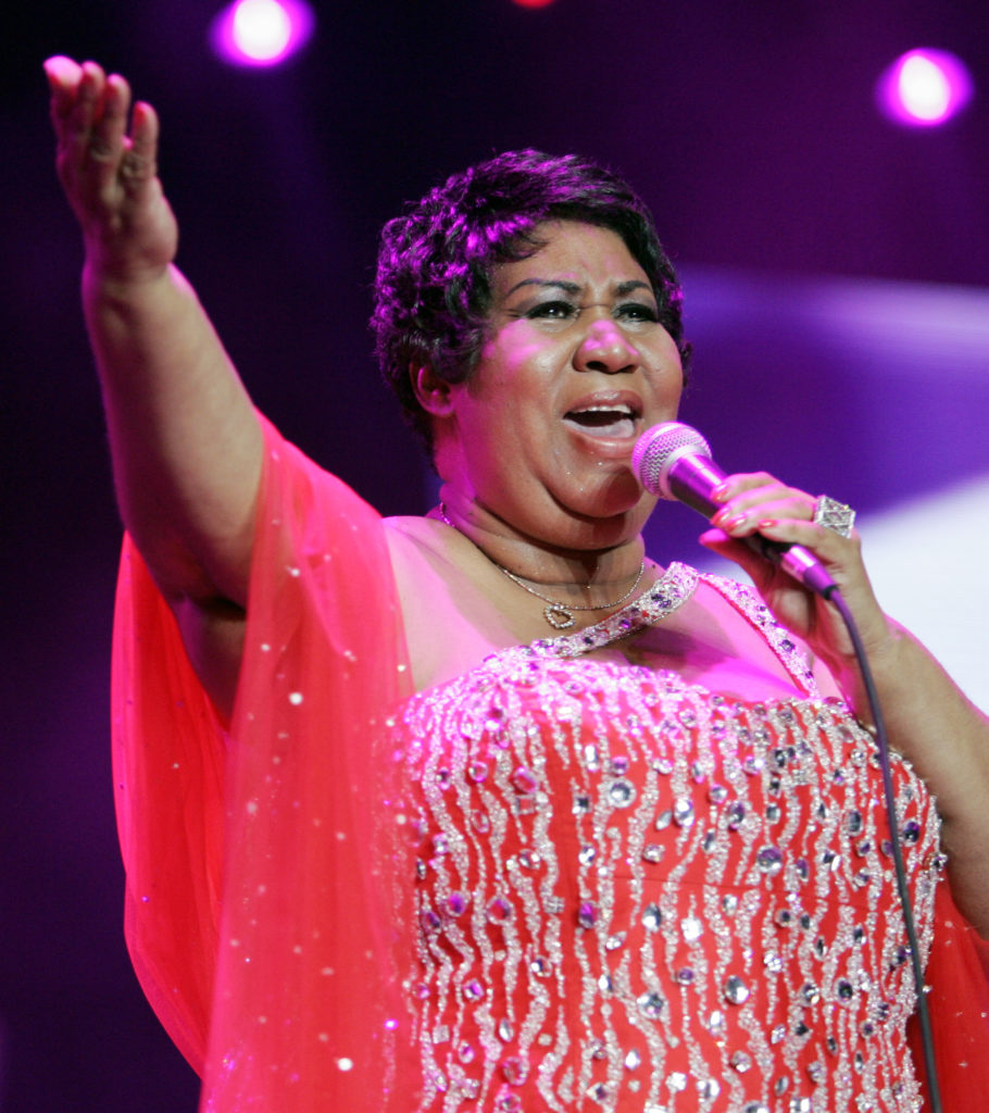 Aretha Franklin at Essence Festival 2005 (Getty Images)
