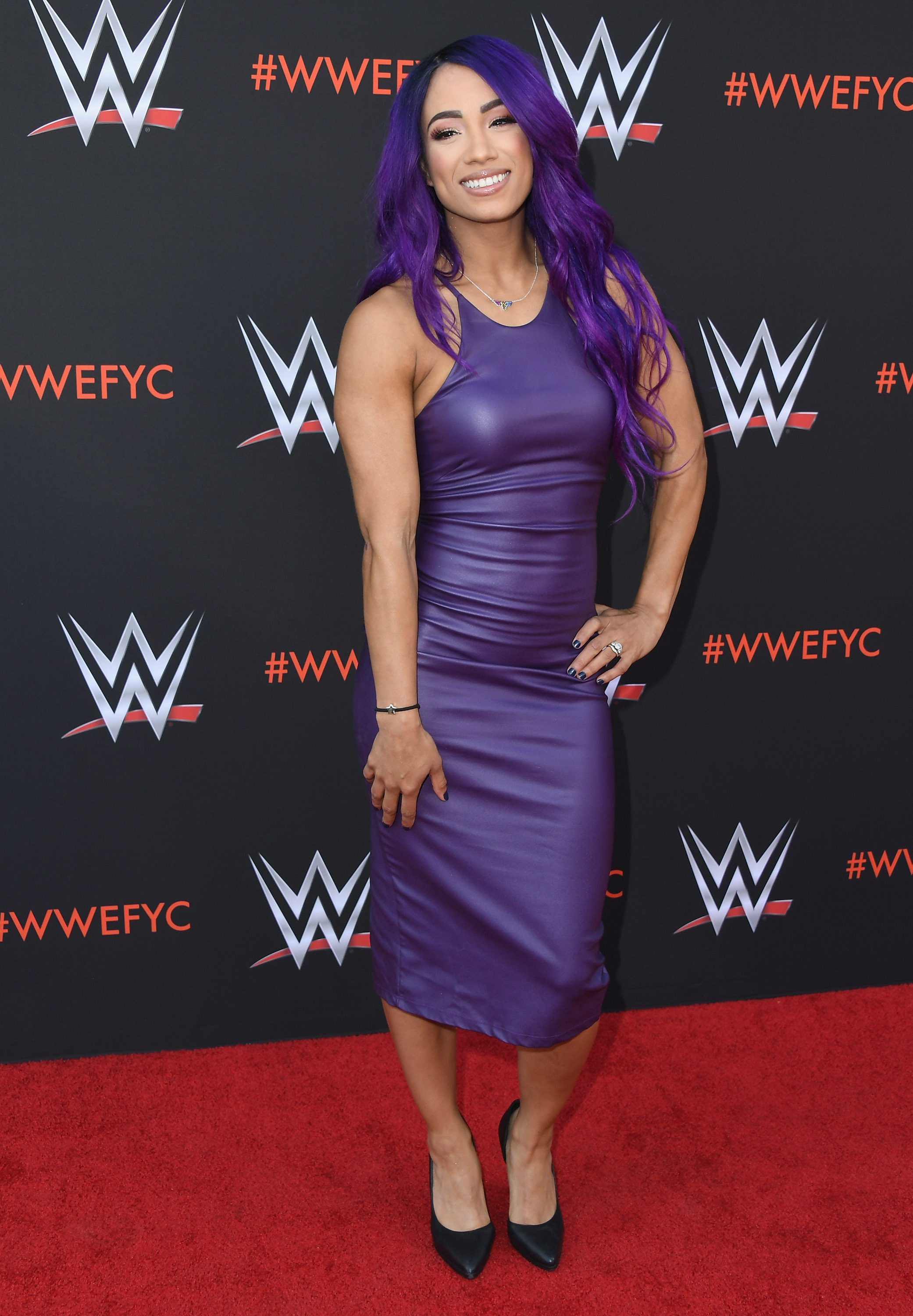 Sasha Banks attends WWE's First-Ever Emmy 'For Your Consideration' Event at Saban Media Center on June 6, 2018 in North Hollywood, California. (Getty Images)