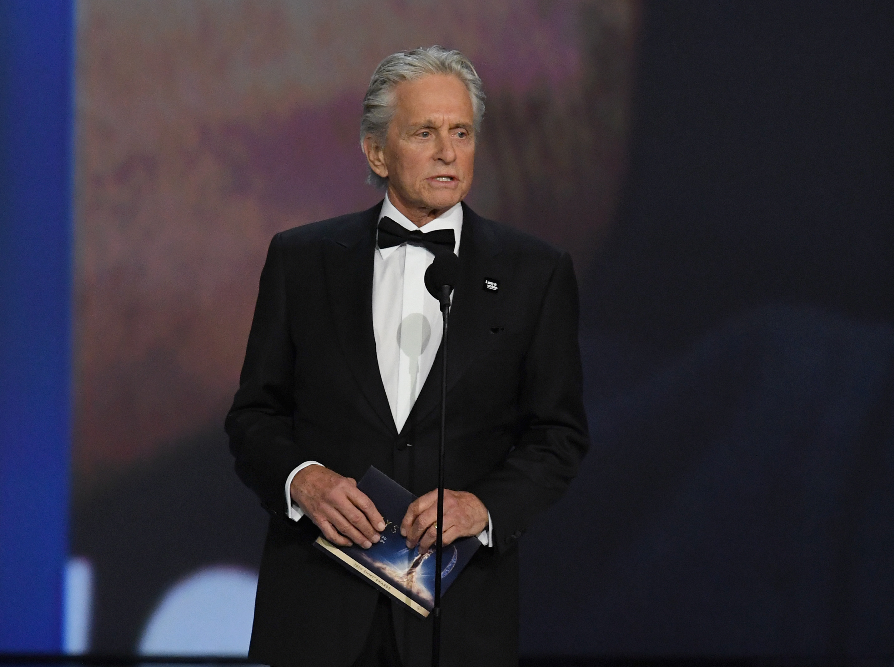 Michael Douglas speaks onstage during the 70th Emmy Awards at Microsoft Theater on September 17, 2018 in Los Angeles, California.