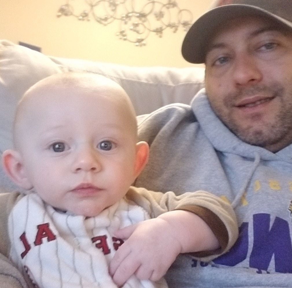 Little Jaxon with his father Nate Liedl. (Facebook)