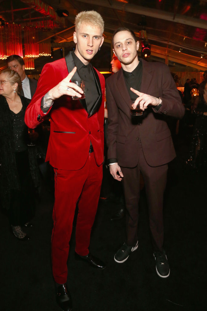 Machine Gun Kelly (L) and Pete Davidson attend the Netflix 2019 Golden Globes After Party on January 6, 2019 in Los Angeles, California. (Photo by Tommaso Boddi/Getty Images for Netflix)