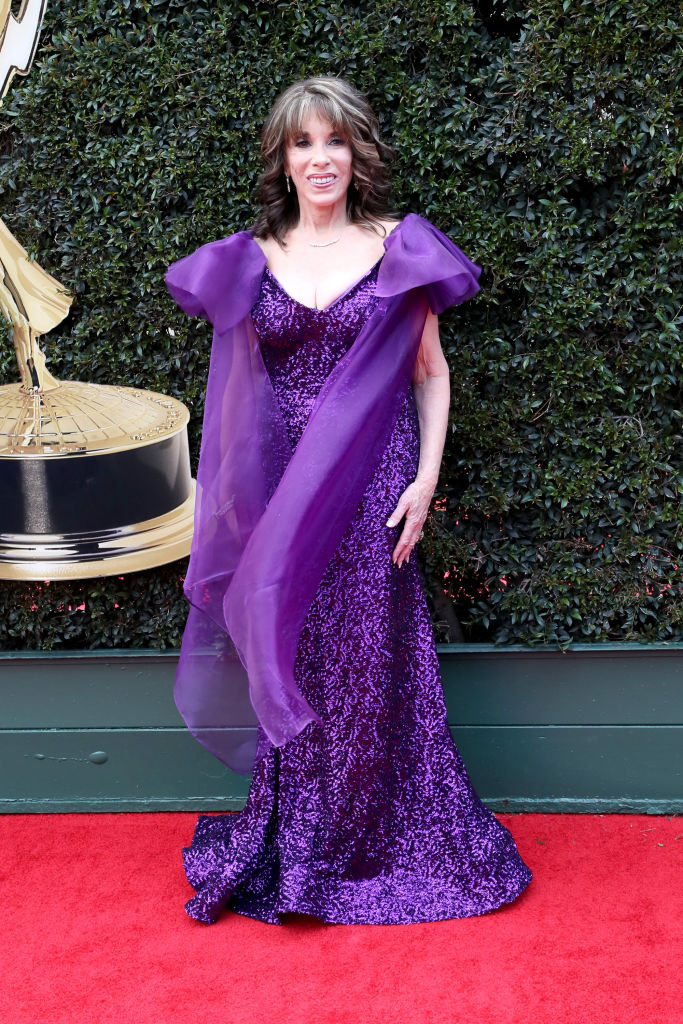 Kate Linder attends the 45th annual Daytime Emmy Awards at Pasadena Civic Auditorium on April 29, 2018, in Pasadena, California. (Getty Images)
