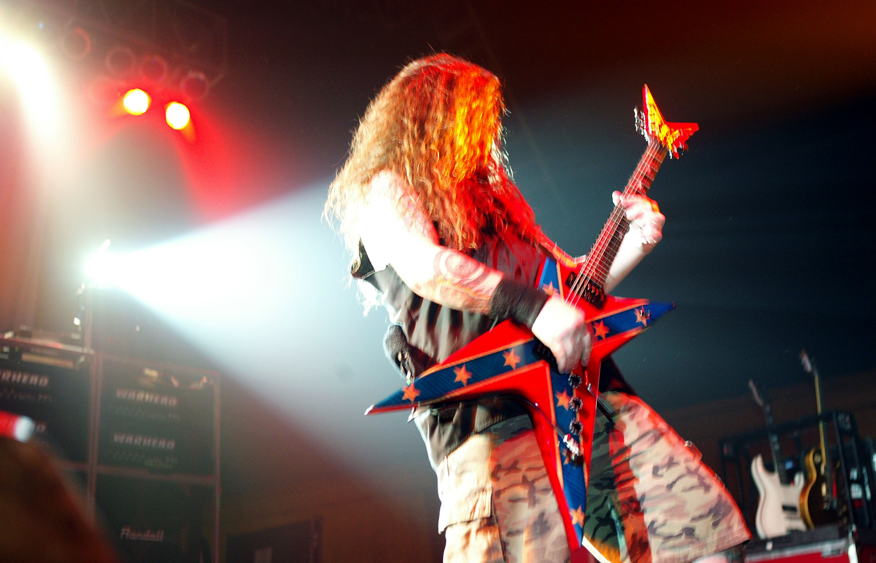 Pantera's Dimebag Darrell was shot dead in 2004 while performing after a crazed fan jumped on stage and shot him in the head five times. (Image Source: Getty Images)