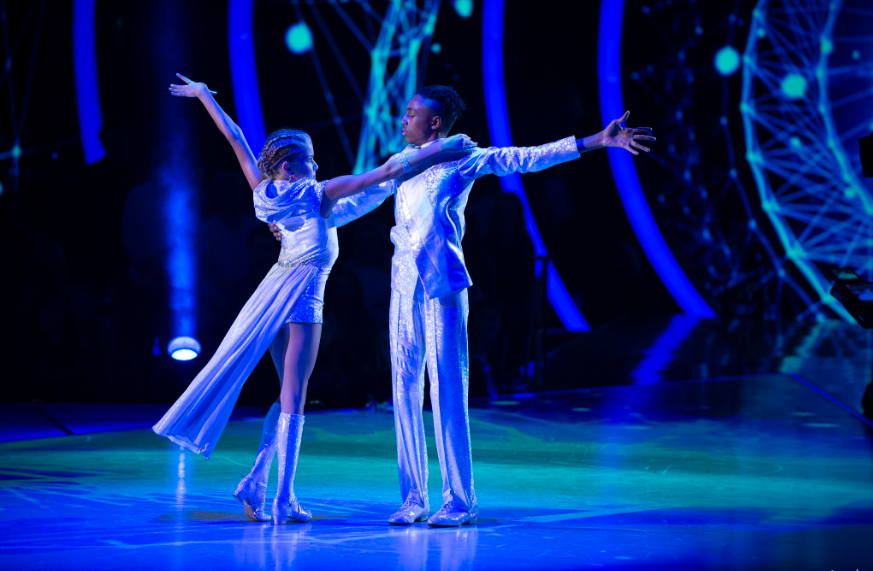 Mandla and Brightyn performing on Time MAchine Night on Dancing with the Stars: Juniors. Source: Twitter