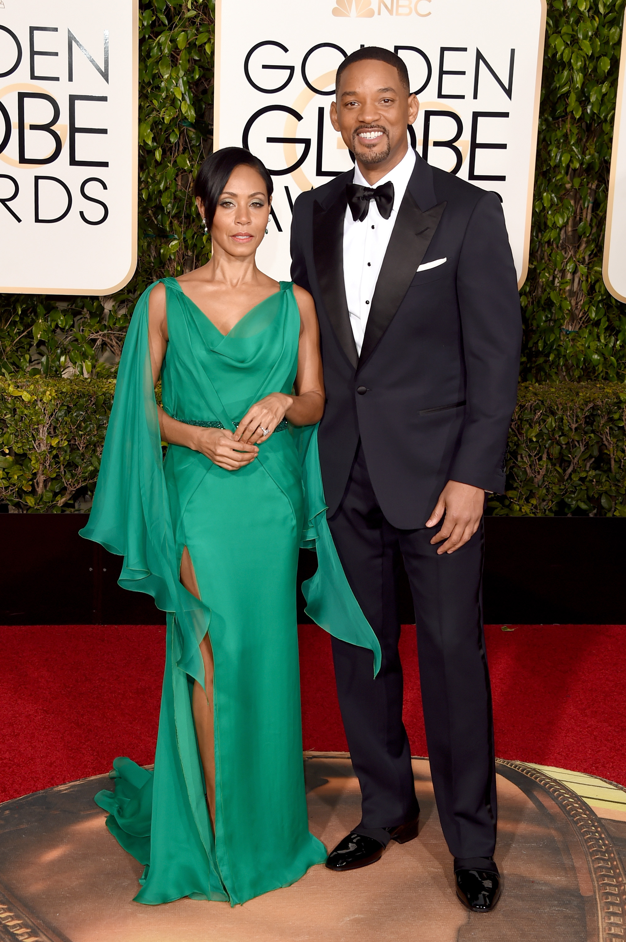 Actors Jada Pinkett Smith and Will Smith attend the 73rd Annual Golden Globe Awards held at the Beverly Hilton Hotel on January 10, 2016 in Beverly Hills, California.