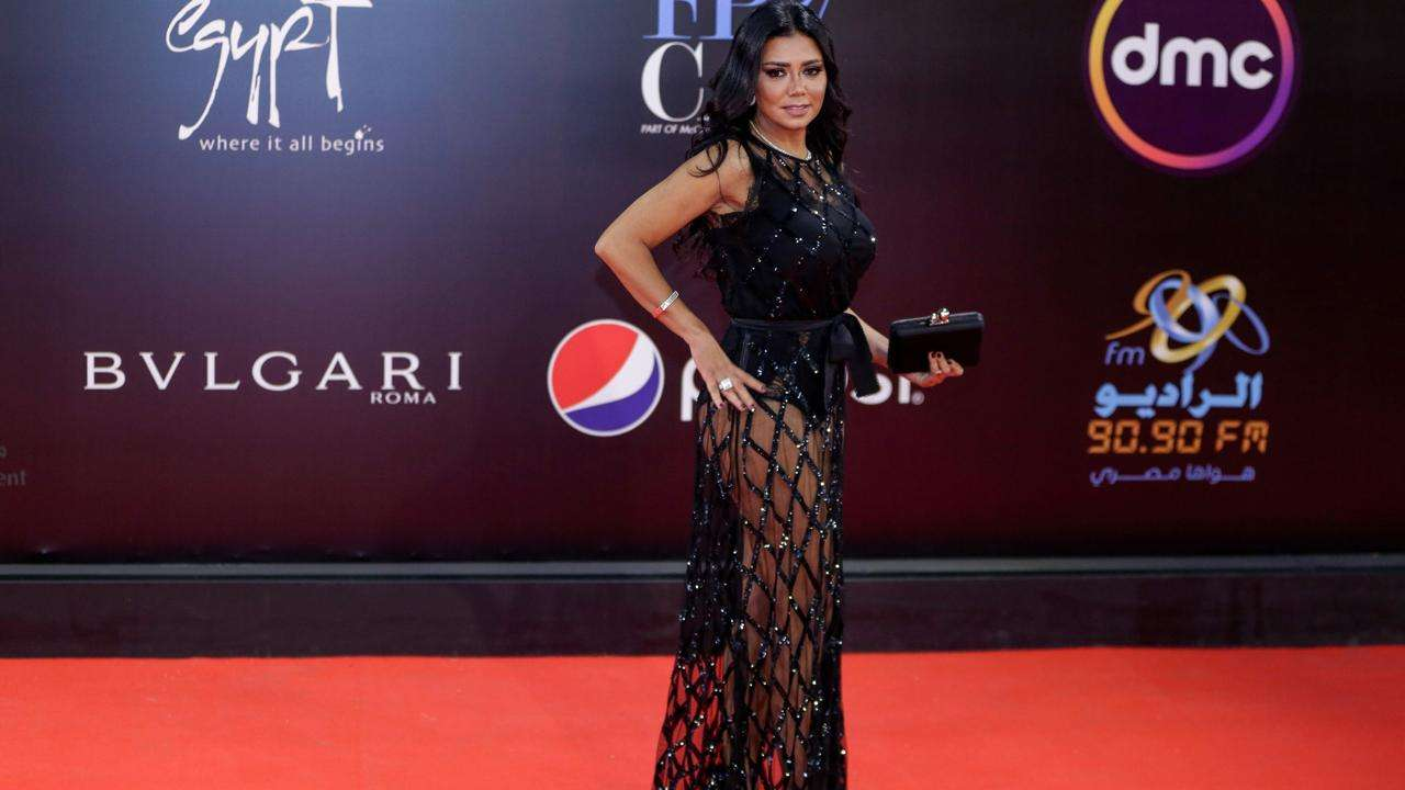 Rania Youssef rocked a beautiful see-through dress at the film festival in Cario(Twitter)