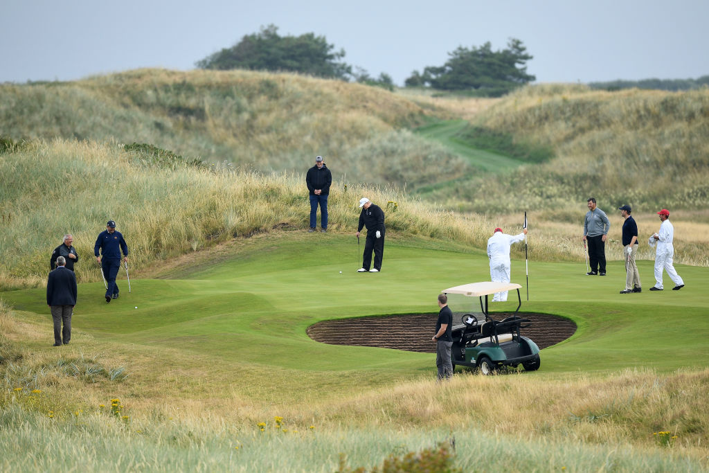 President Donald Trump's visit to Trump Turnberry in July cost the U.S. Department $68,800, according to The Scotsman (Getty Images)