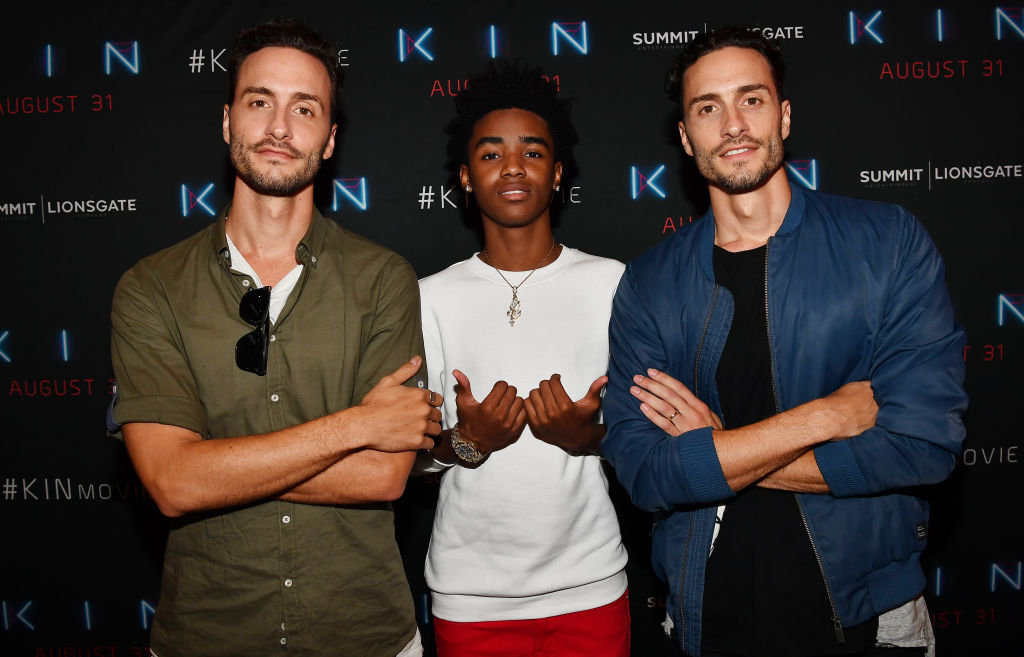 (L-R) Josh Baker, Myles Truitt, and Jonathan Baker attend 'Kin' Atlanta screening at Regal Atlantic Station on August 20, 2018 in Atlanta, Georgia. (Photo by Paras Griffin/Getty Images for Lionsgate)