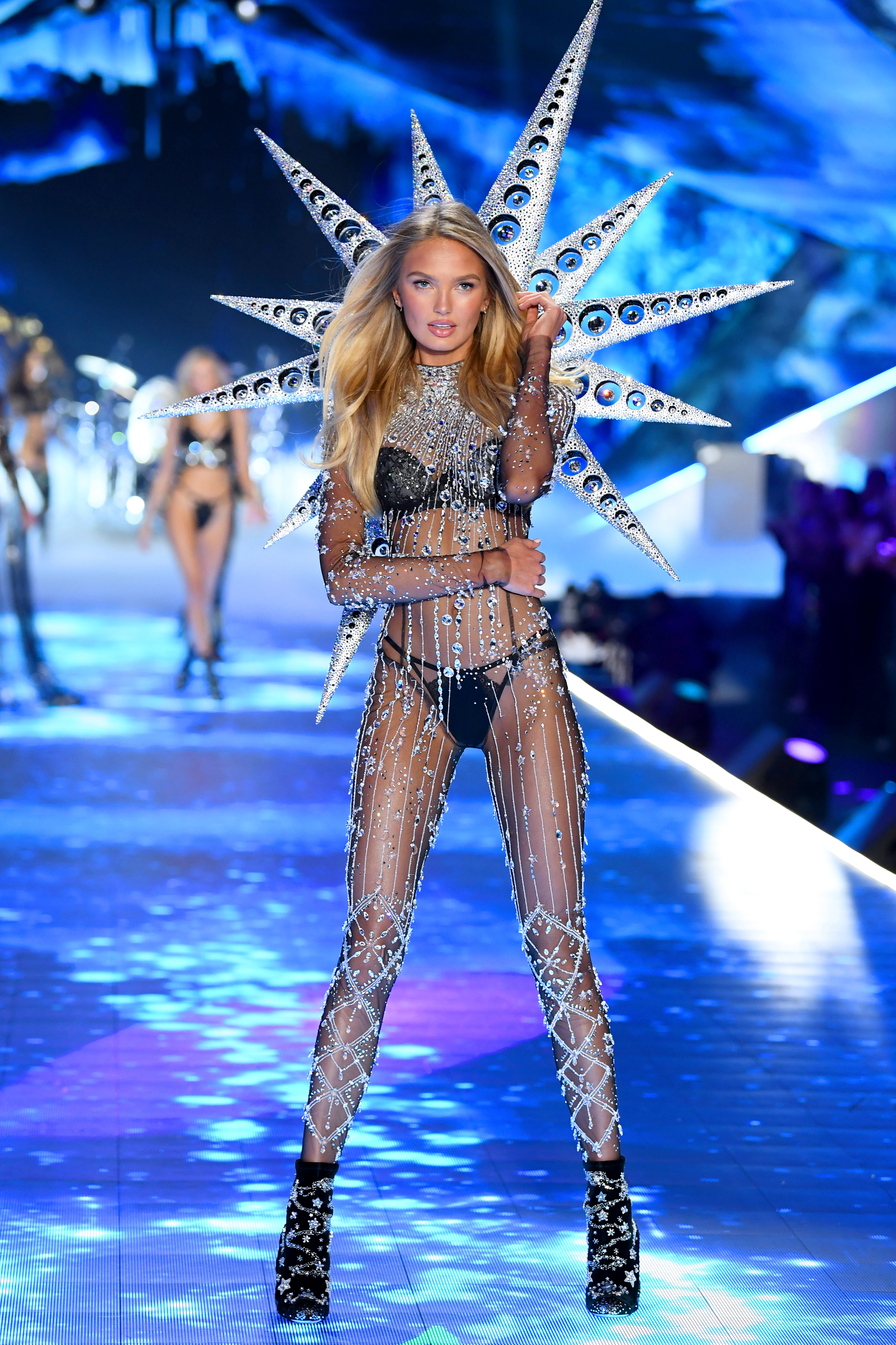 Romee Strijd walks the runway during the 2018 Victoria's Secret Fashion Show at Pier 94 on November 8, 2018, in New York City. (Getty Images)