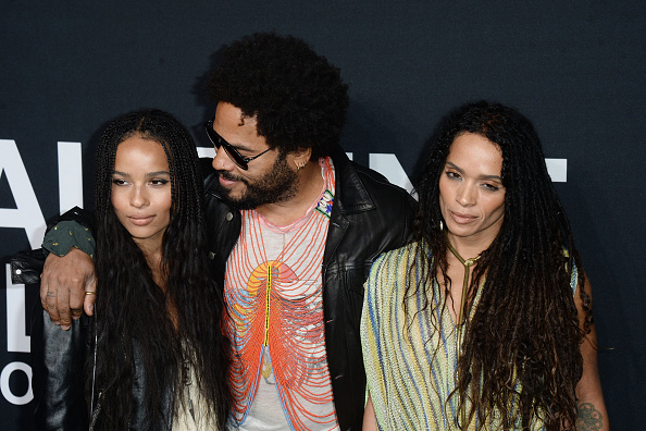 Lenny Kravitz and Lisa welcomed their daughter Zoe shortly after eloping to Las Vegas. (Getty Images)