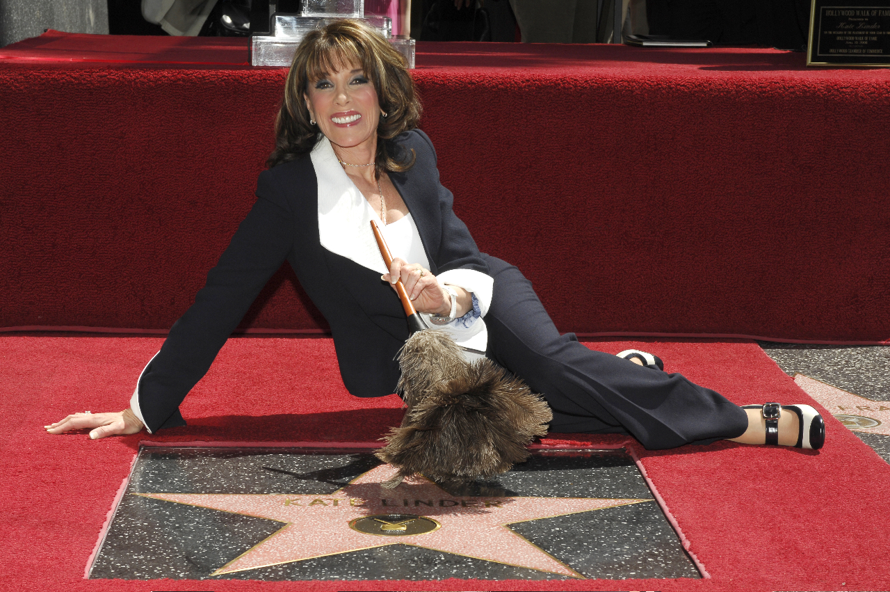 Kate Linder receiving a Star on the Hollywood Walk of Fame. PC: Bob Freeman