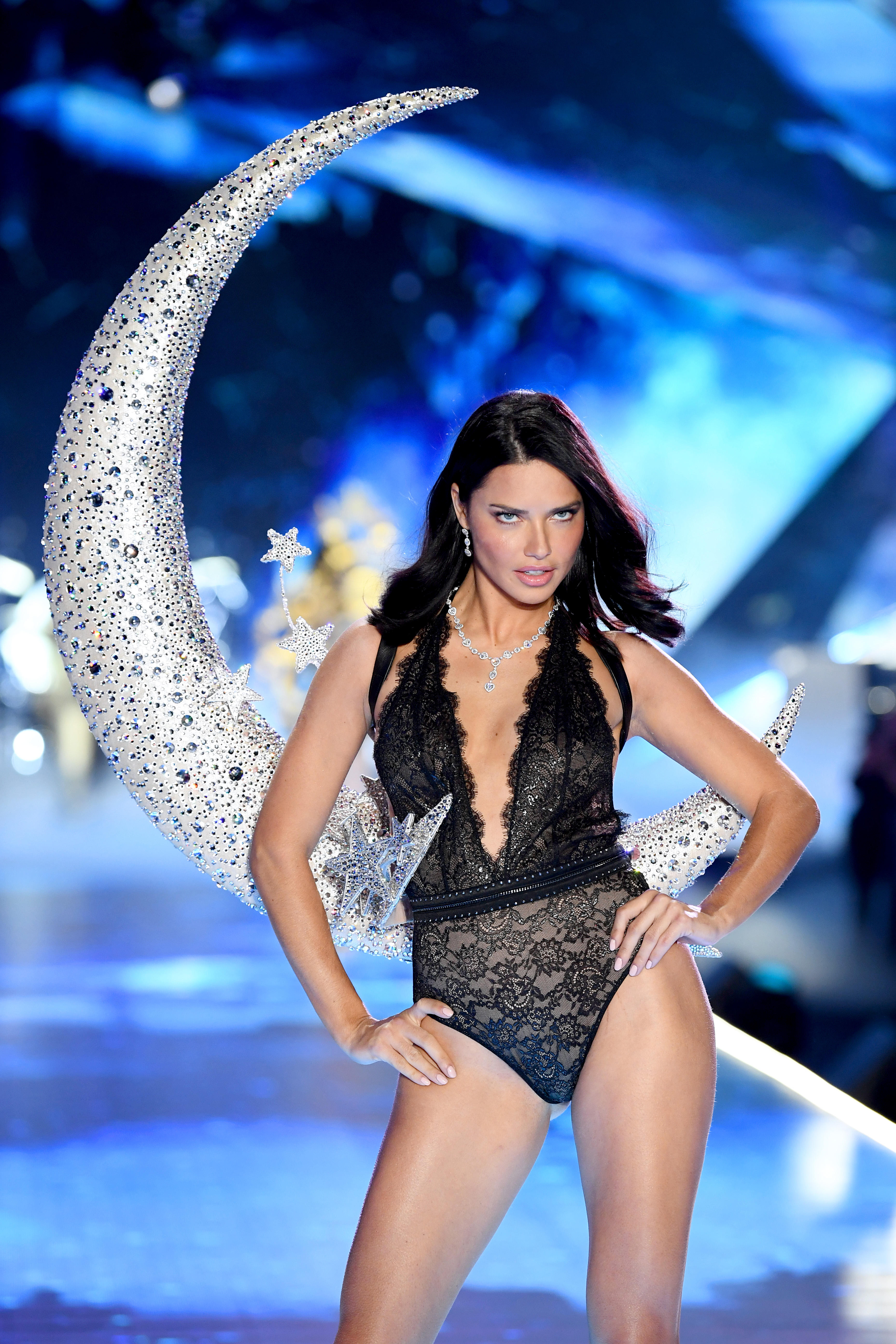 Adriana Lima walks the runway during the 2018 Victoria's Secret Fashion Show at Pier 94 on November 8, 2018, in New York City. (Getty Images)