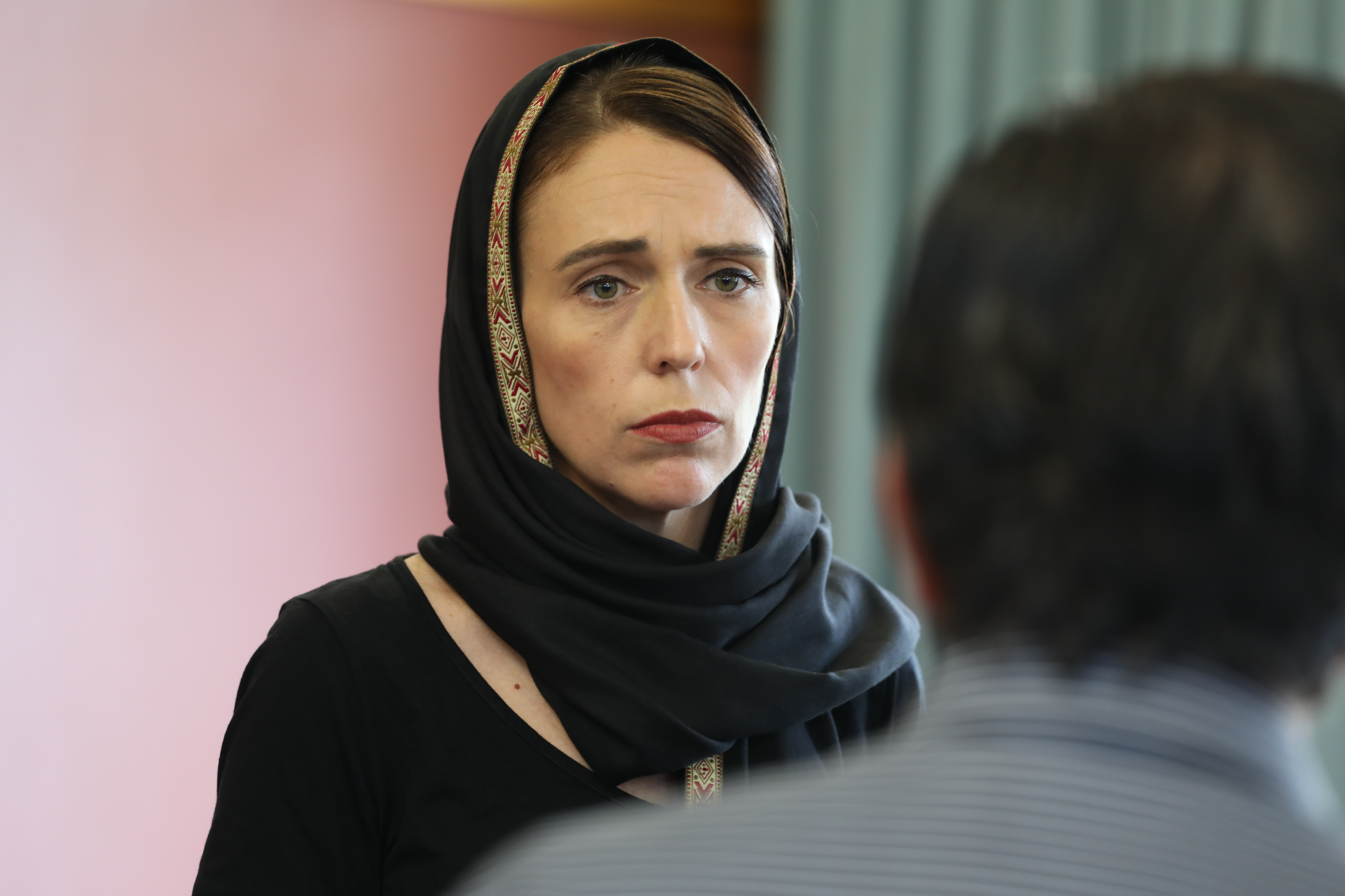 In this handout photo provided by the Office of the Prime Minister of New Zealand, New Zealand Prime Minister Jacinda Ardern meets with Muslim community representatives on March 16, 2019 in Christchurch, New Zealand. (Getty Images)