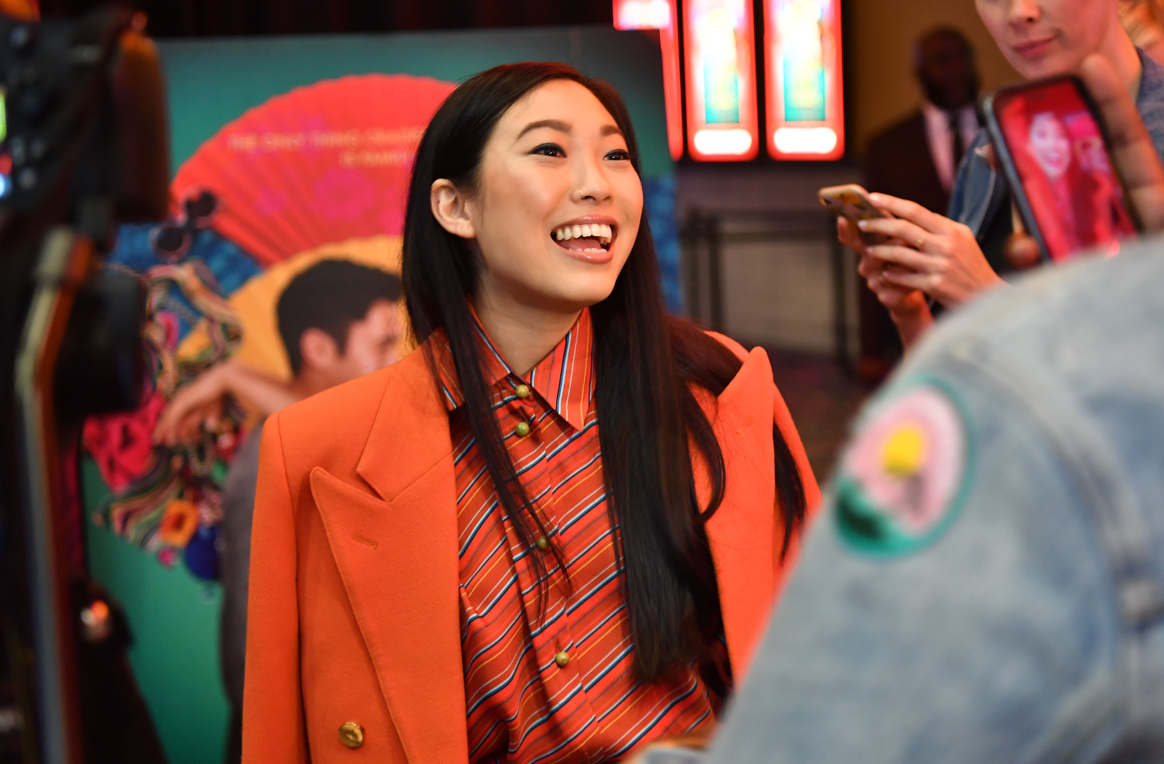 Actress Awkwafina attends 'Crazy Rich Asians' Atlanta Red Carpet Screening at Regal Atlantic Station on August 2, 2018 in Atlanta, Georgia.