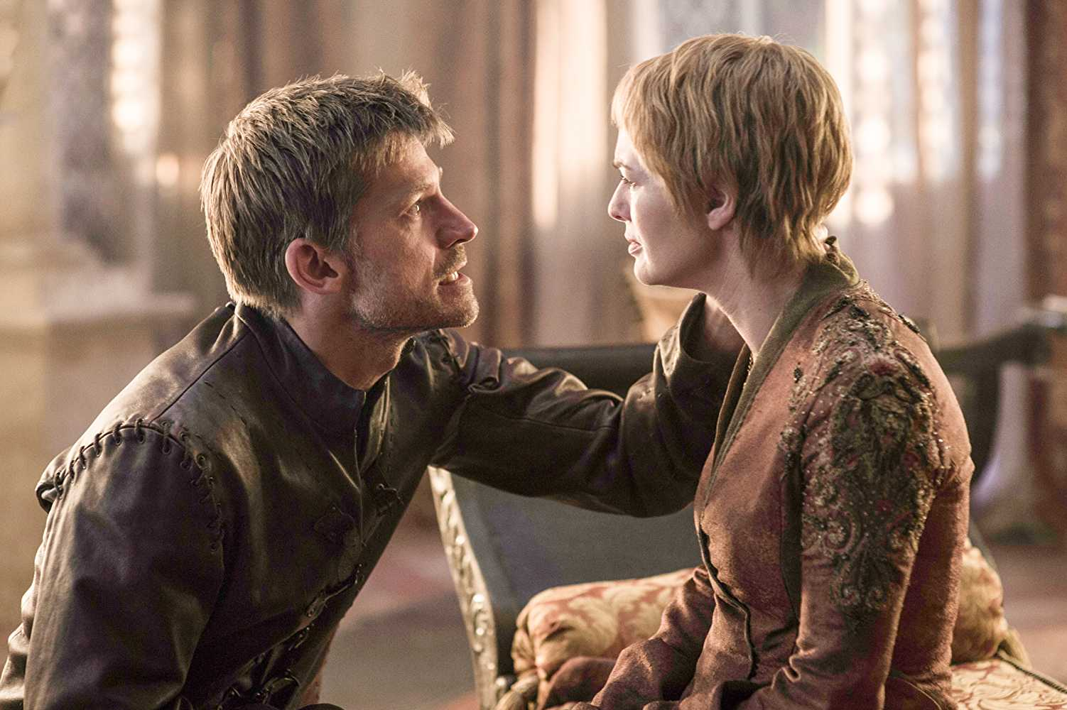 Nikolaj Coster-Waldau (Jaime Lannister) and Lena Headey (Cersei Lannister) in Game of Thrones. Source: IMDB