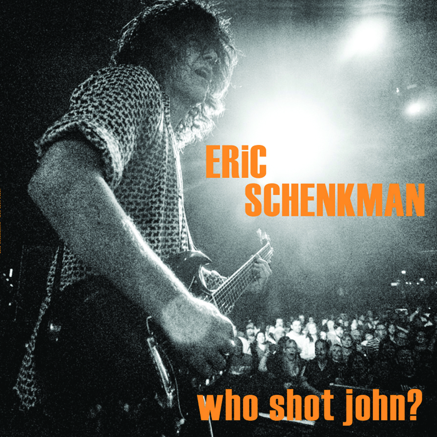 Album art for Eric Schenkman's forthcoming third solo studio album 'Who Shot John?'