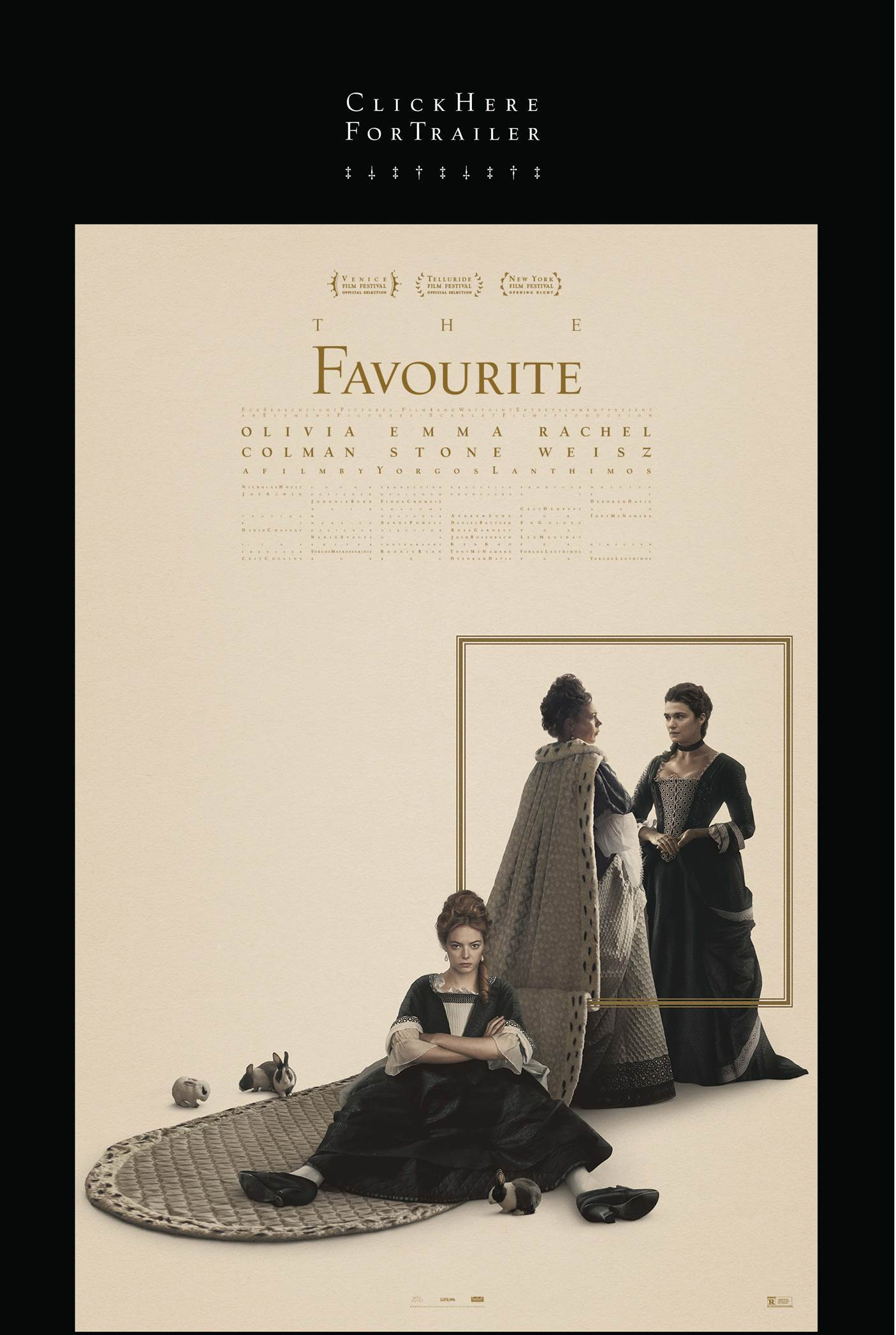 The Favourite is scheduled to open in the New York Film Festival on September 28