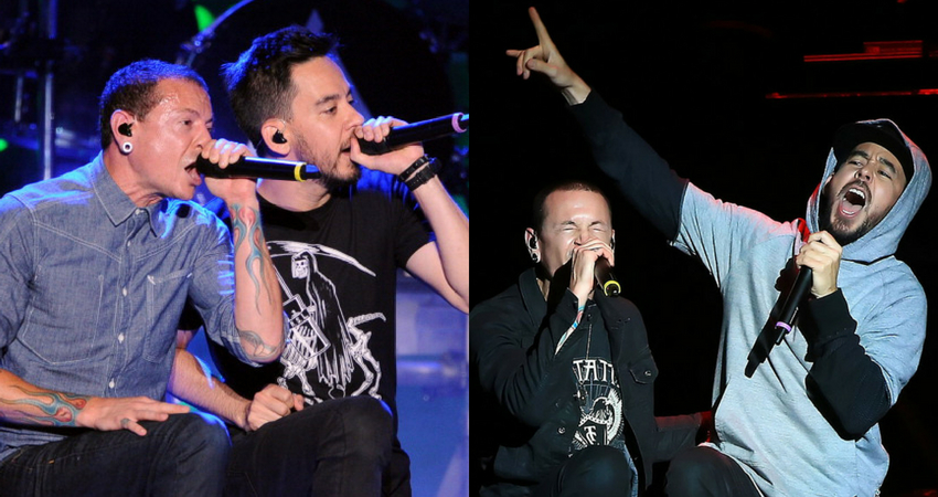 Mike Shinoda remembered his late bandmate and asked the audience to sing so loud that Chester could hear them. (Getty Images)