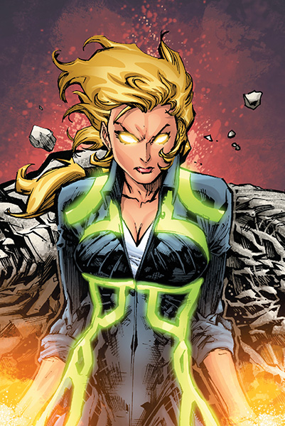 Terra at full power. Source: DC Universe