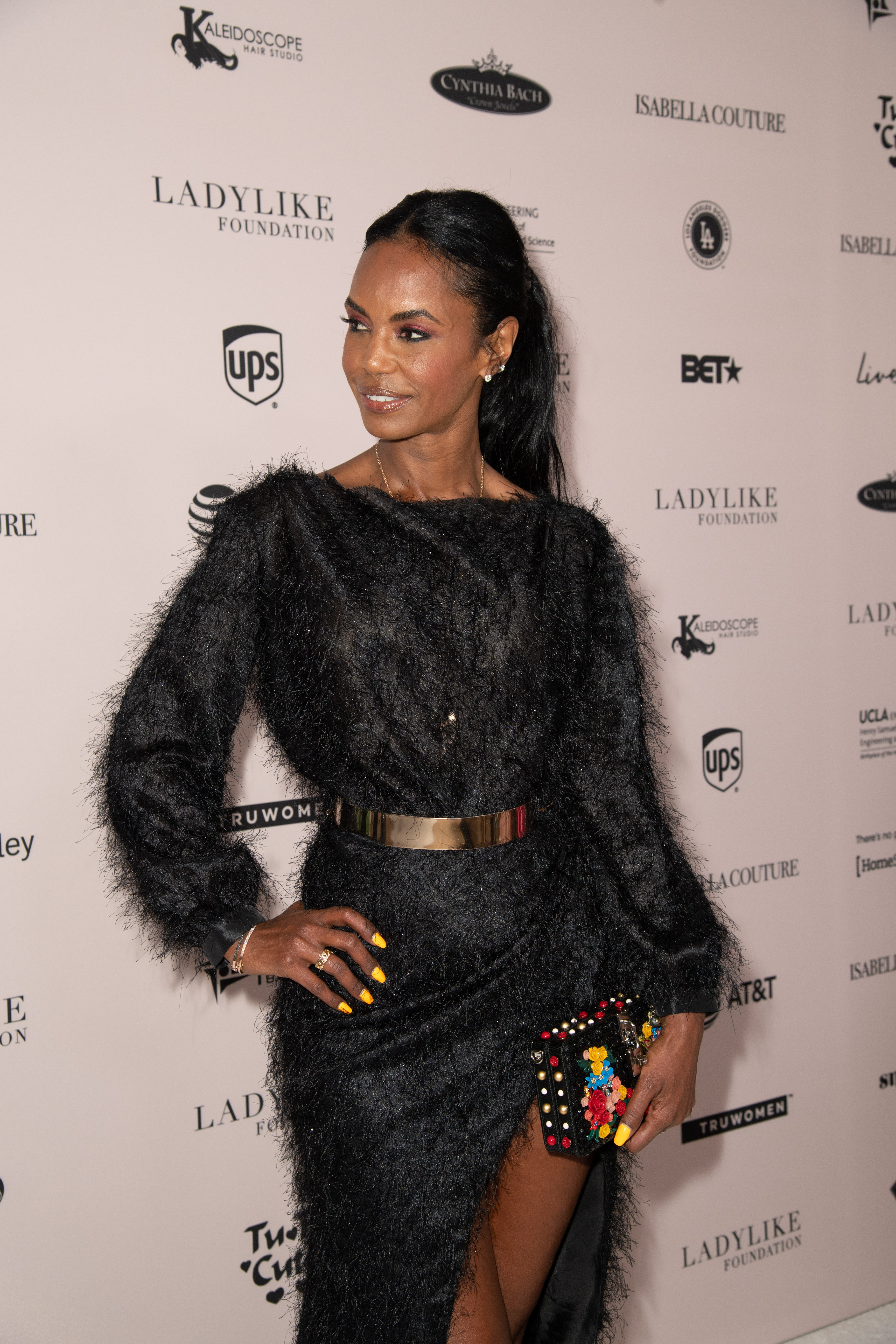 Kim Porter attends the Ladylike Foundation's 2018 Annual Women Of Excellence Scholarship Luncheon at The Beverly Hilton Hotel on June 2, 2018 in Beverly Hills, California.
