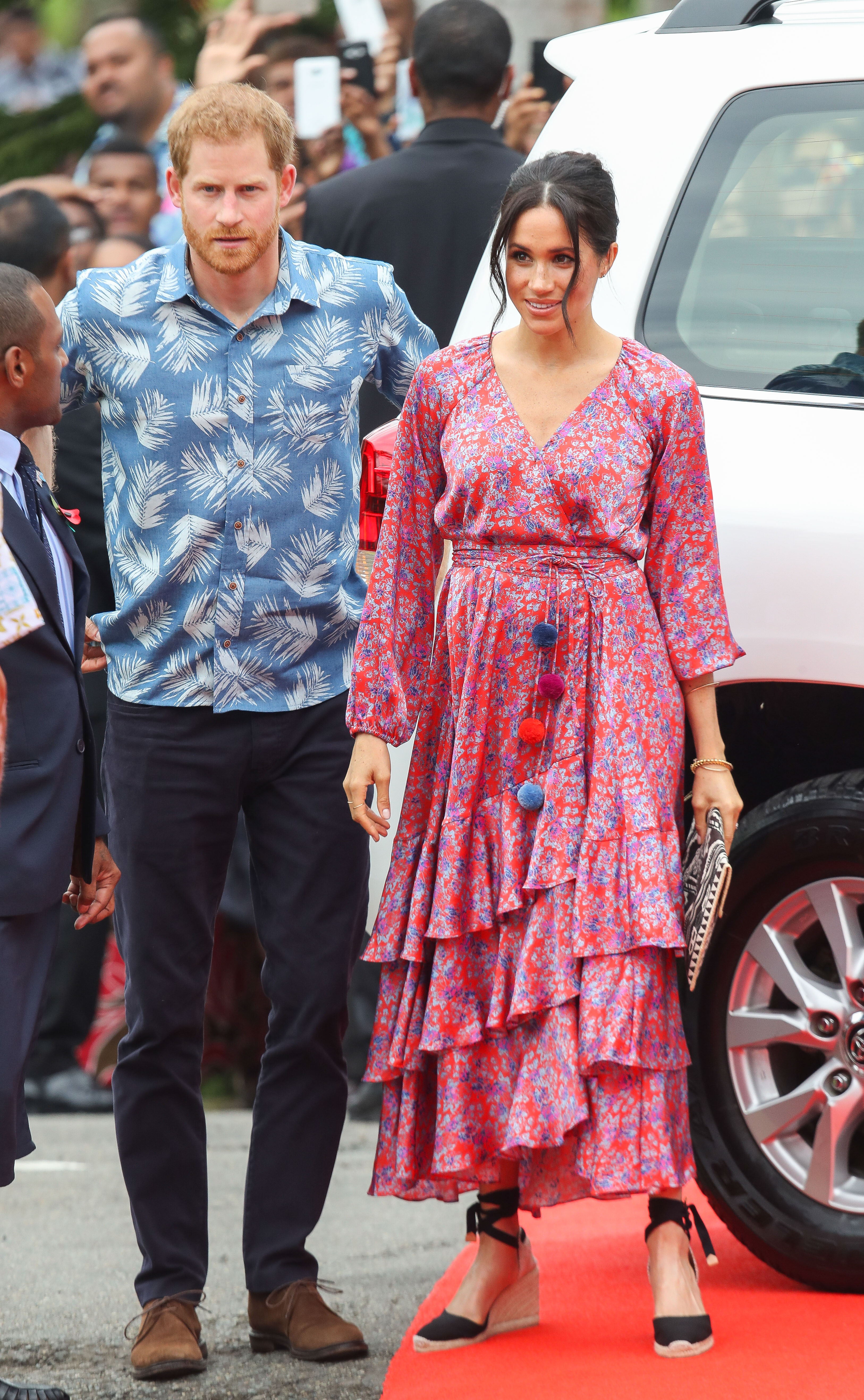 Prince Harry, Duke of Sussex and Meghan, Duchess of Sussex attend University of the South Pacific on October 24, 2018 in Suva, Fiji. The Duke and Duchess of Sussex are on their official 16-day Autumn tour visiting cities in Australia, Fiji, Tonga and New Zealand (Getty Images)