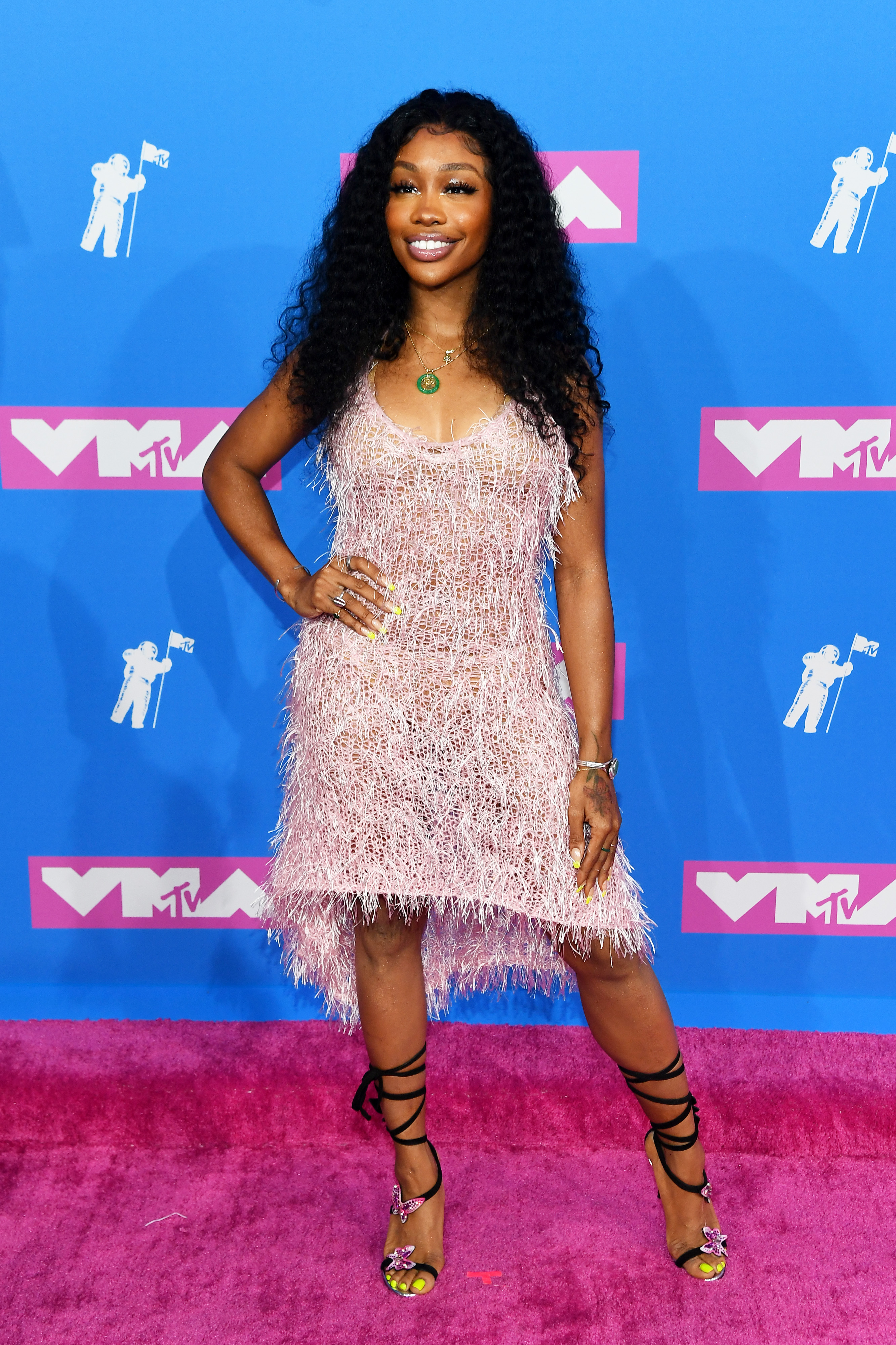 SZA attends the 2018 MTV Video Music Awards at Radio City Music Hall on August 20, 2018 in New York City.