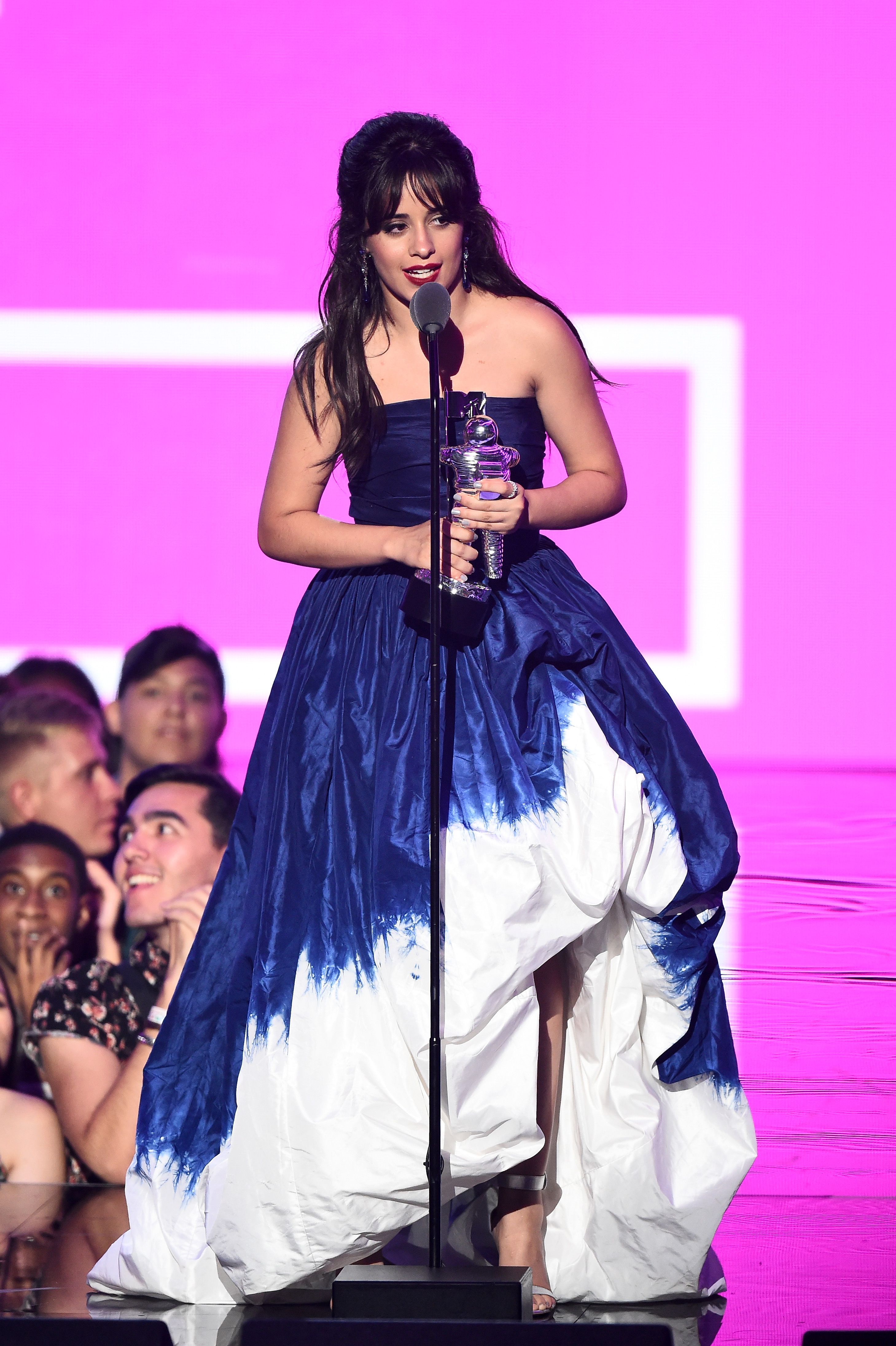 Camila Cabello accepts the award for Video of the Year onstage during the 2018 MTV Video Music Awards at Radio City Music Hall on August 20, 2018 in New York City.