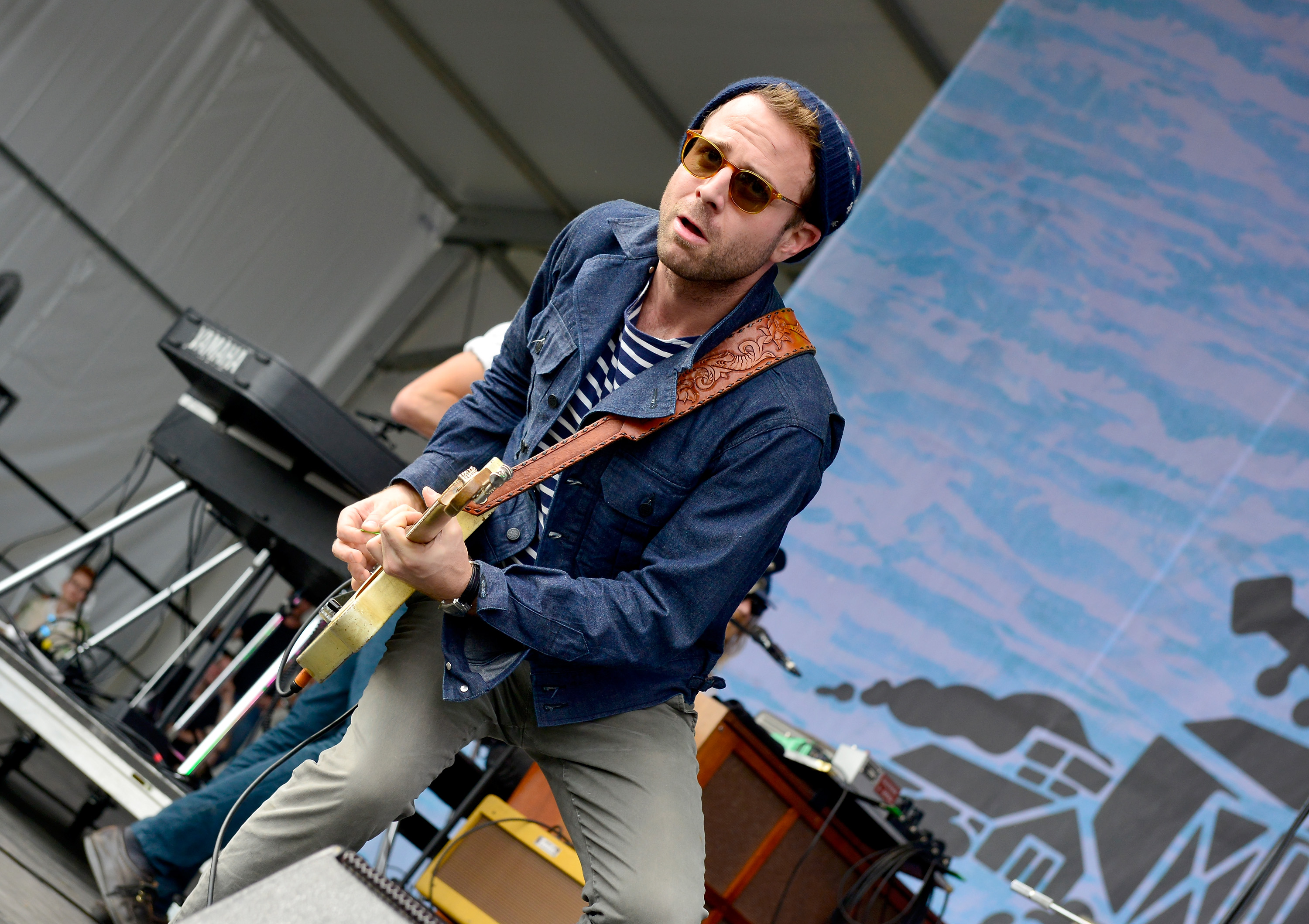 Taylor Goldsmith of Dawes performs onstage during Pilgrimage Music & Cultural Festival on September 27, 2015 in Franklin, Tennessee. (Getty Images)