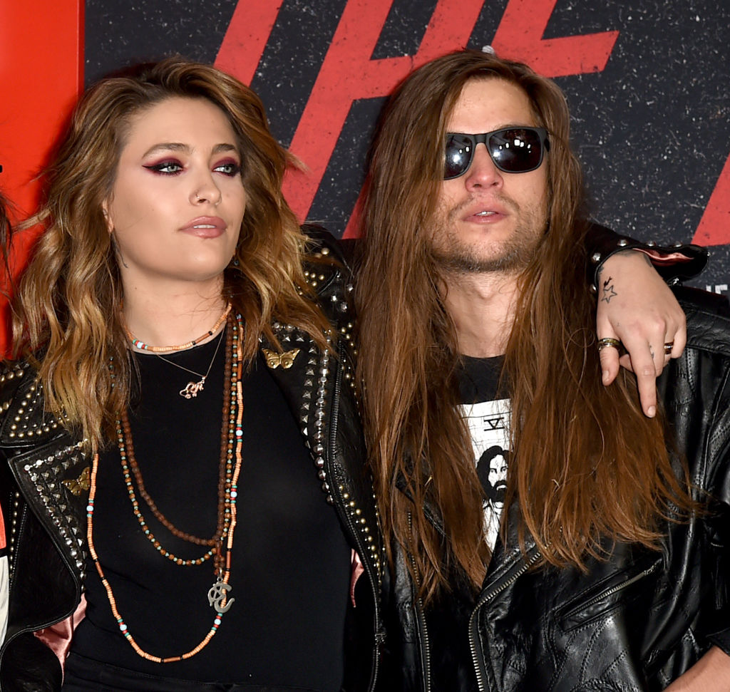 Paris Jackson (L) and Gabriel Glenn arrive at the premiere of Netflix's 'The Dirt' at ArcLight Hollywood on March 18, 2019 in Hollywood, California. (Photo by Kevin Winter/Getty Images)
