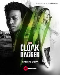A poster of the upcoming season of 'Cloak and Dagger'. (Source: Freeform)